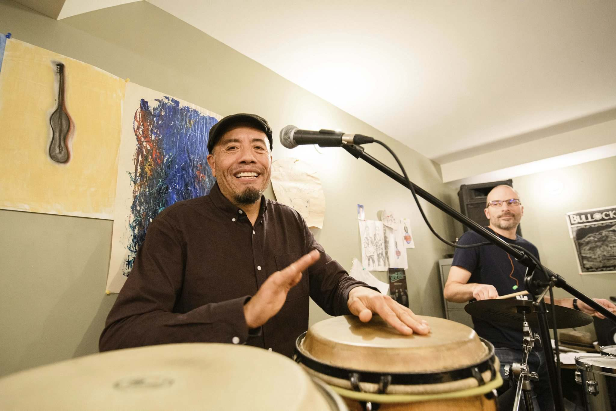 Papa Mambo leader and percussionist Rodrigo Muñoz. (Mike Sudoma / Winnipeg Free Press)