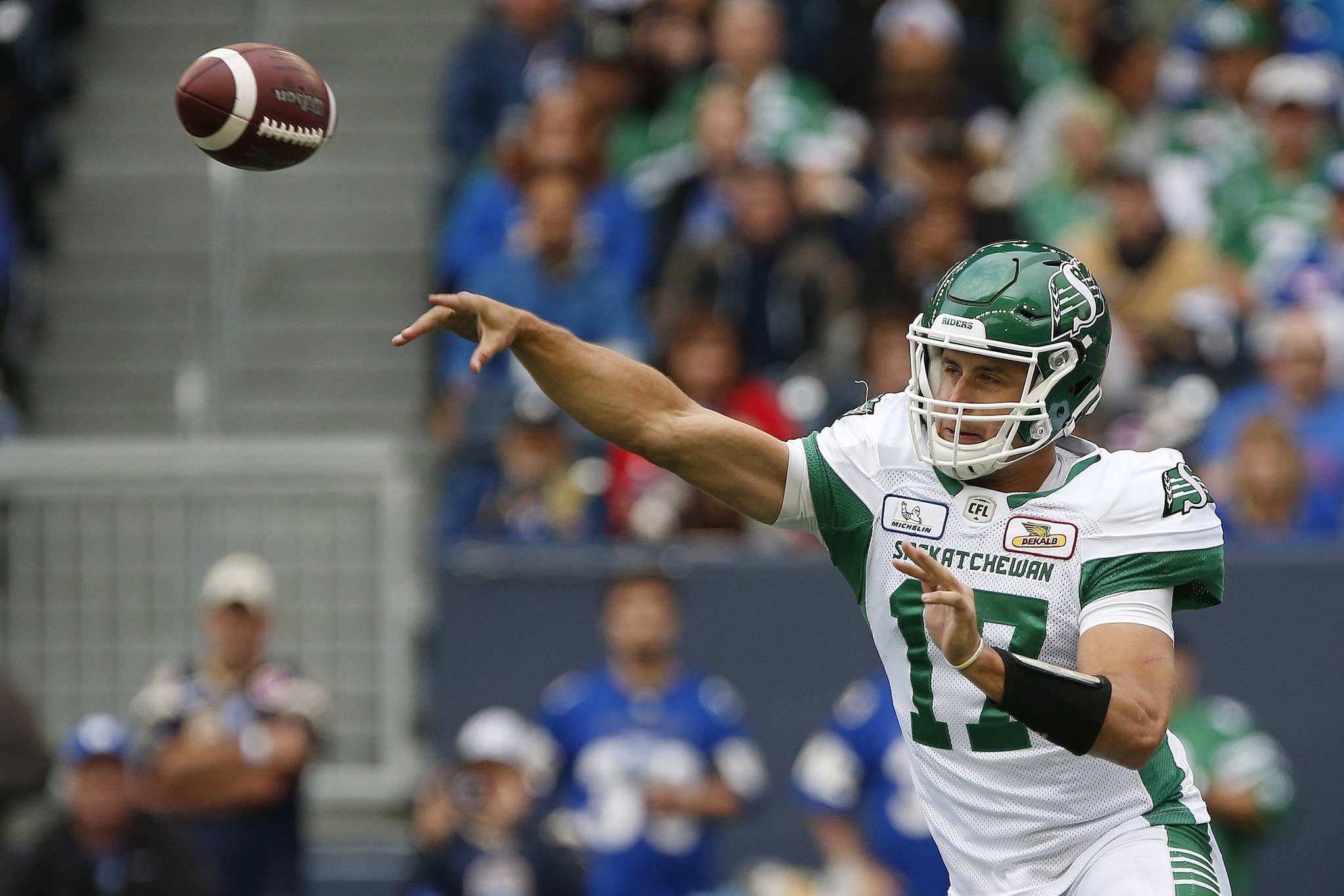 THE CANADIAN PRESS/John Woods</p><p>The Winnipeg Blue Bombers acquired quarterback Zach Collaros and a 2020 fifth-round selection from the Toronto Argonauts in exchange for a conditional 2020 third-round pick.</p>