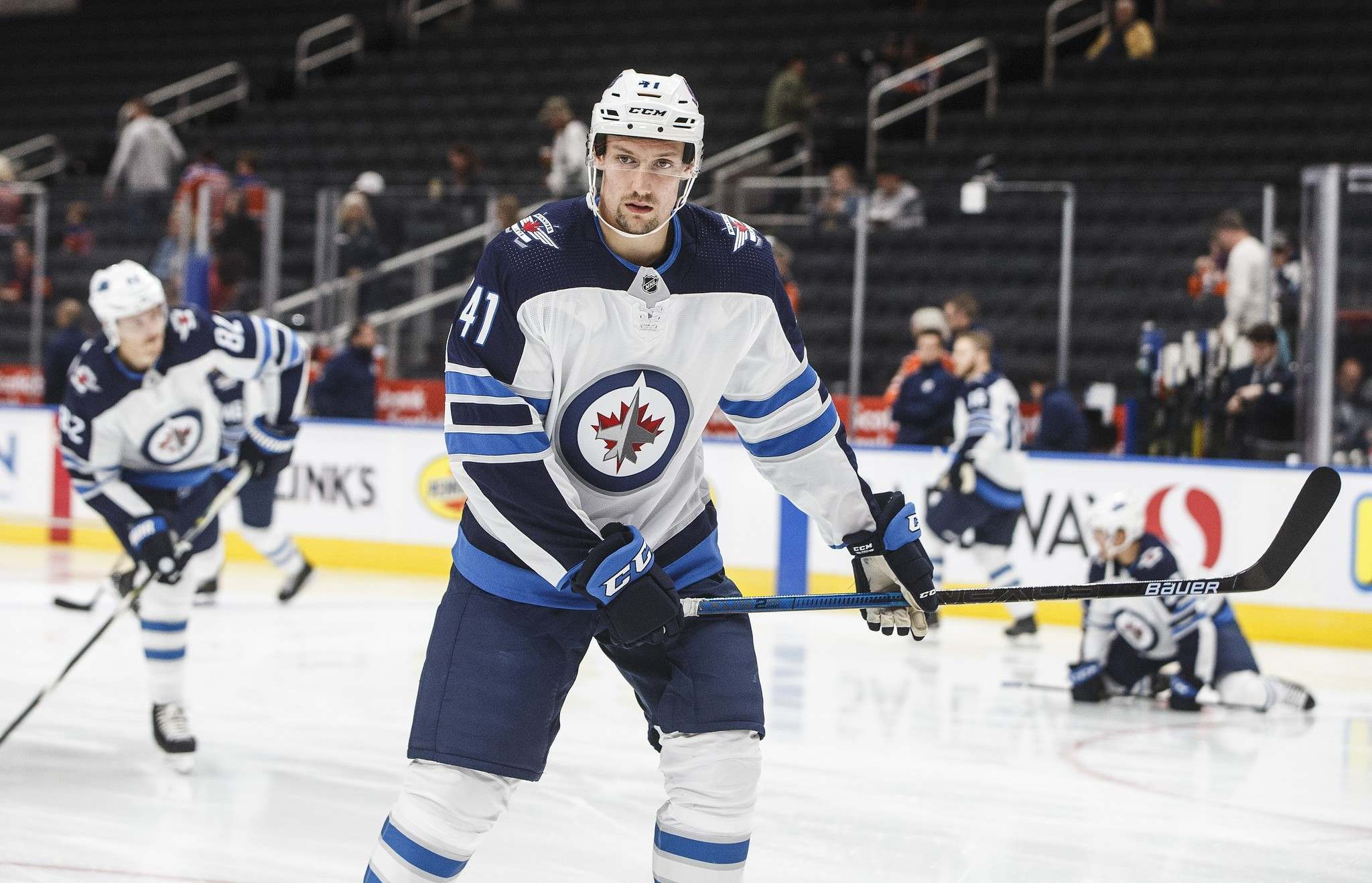 Gustafsson to centre Jets fourth line against Coyotes tonight