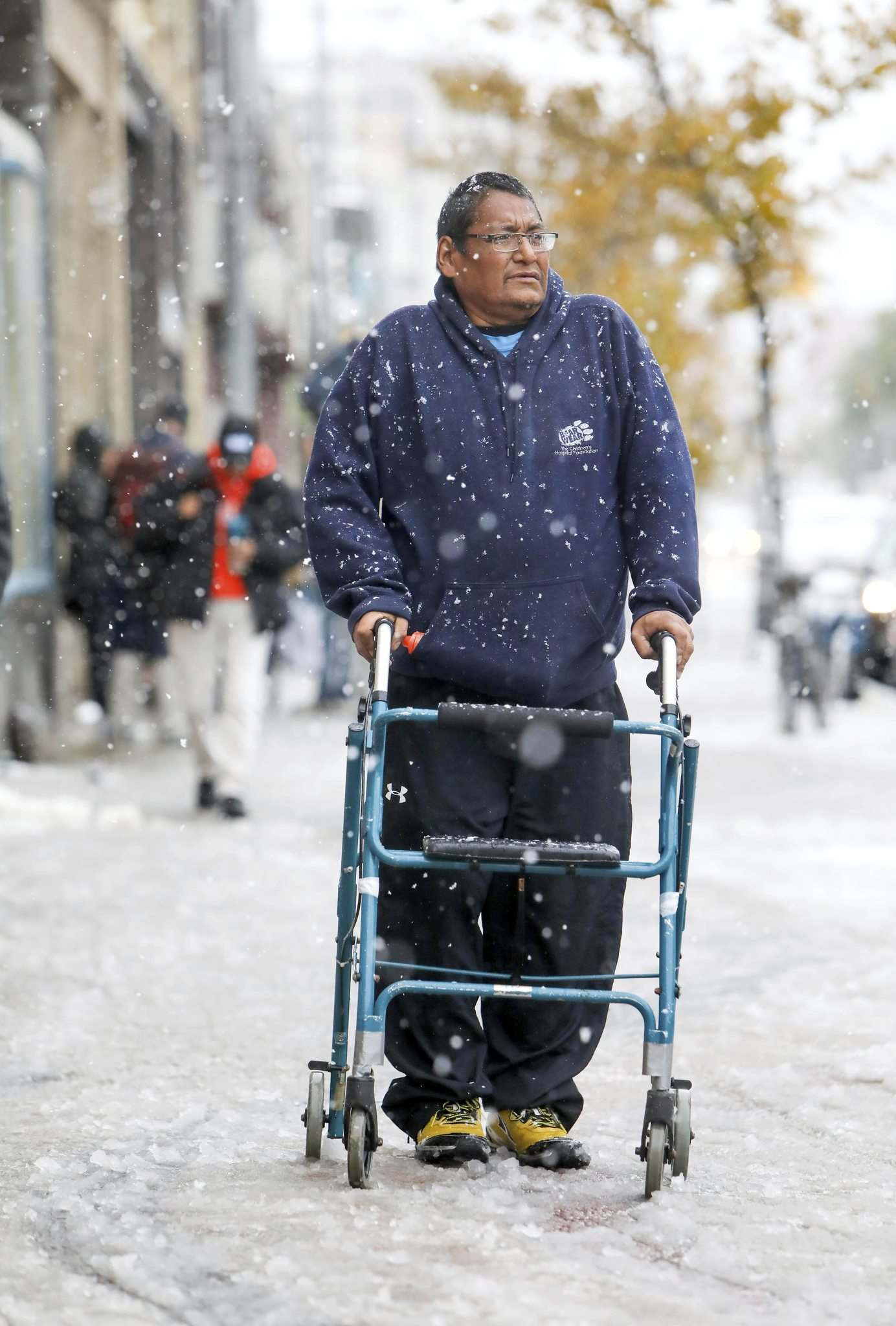"""""""My voice means a lot to me,"""" Cyril  Raven says. """"If you're homeless, nobody looks at you, they don't even see you, but if they know you have a home and a job, people respect you. I find that very degrading."""" Ruth Bonneville / Winnipeg Free Press)"""
