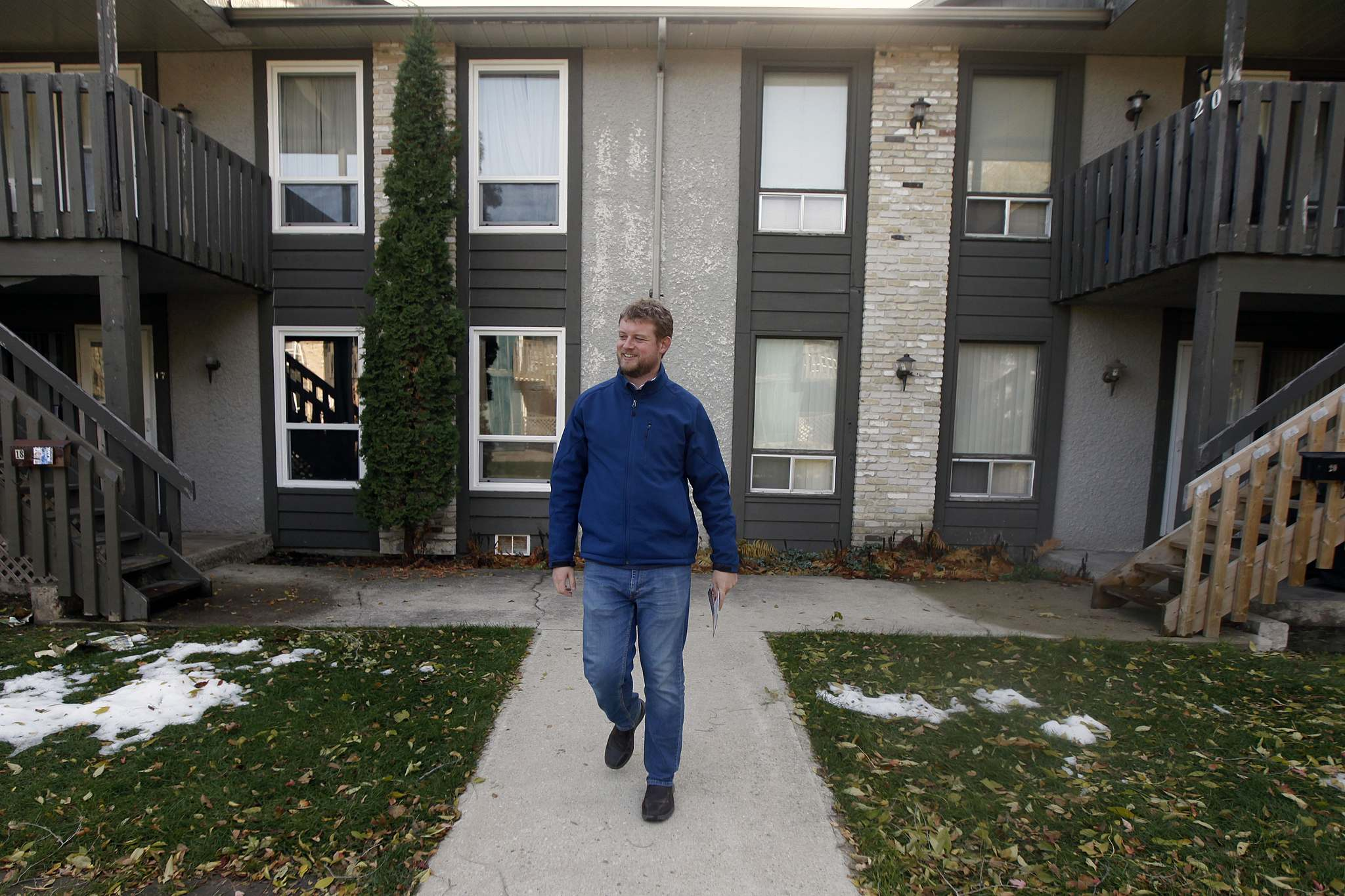 Daniel Blaikie says the close race between him and former MP Lawrence Toet has been a constant reminder of the need to work hard in the constituancy. (Phil Hossack / Winnipeg Free Press)</p>