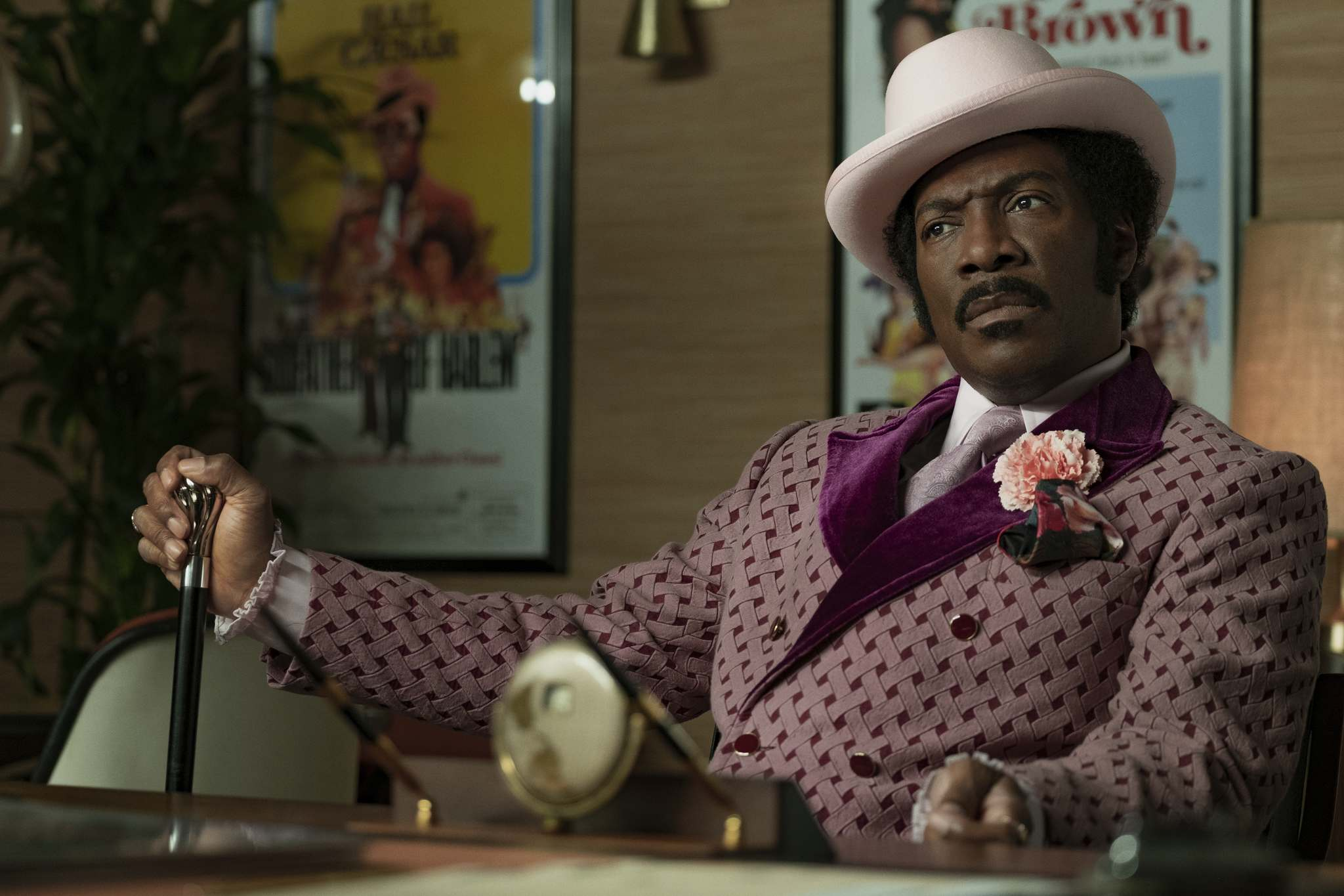 Eddy Murphy is back with a force in Dolemite Is My Name, playing Rudy Ray Moore, the Godfather of Rap.