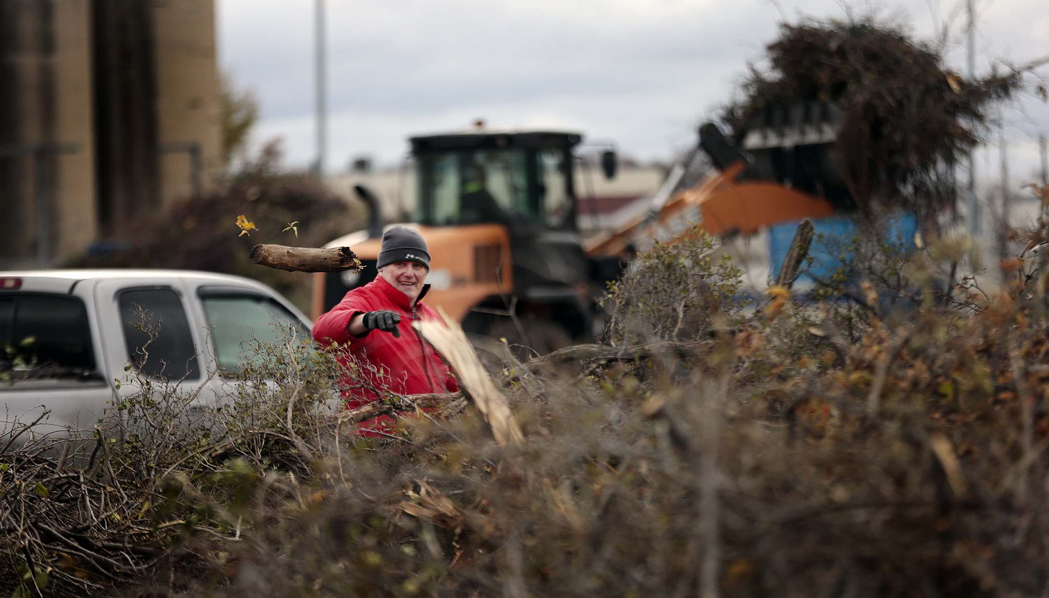 The city says it will take a year to clean away all the debris. (Phil Hossack / Winnipeg Free Press)