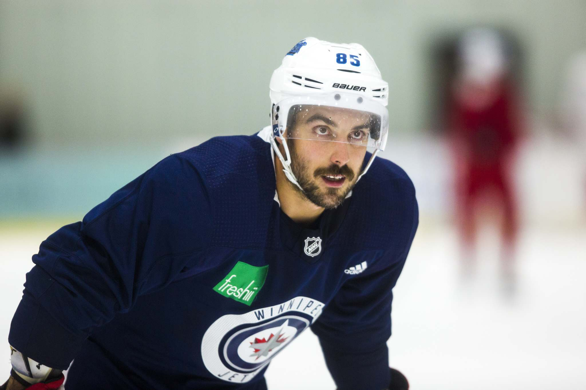 """Mathieu Perreault will be playing in his fourth outdoor game on Saturday. (Mikaela MacKenzie / Winnipeg Free Press)</p> <p>""""></a><figcaption readability="""