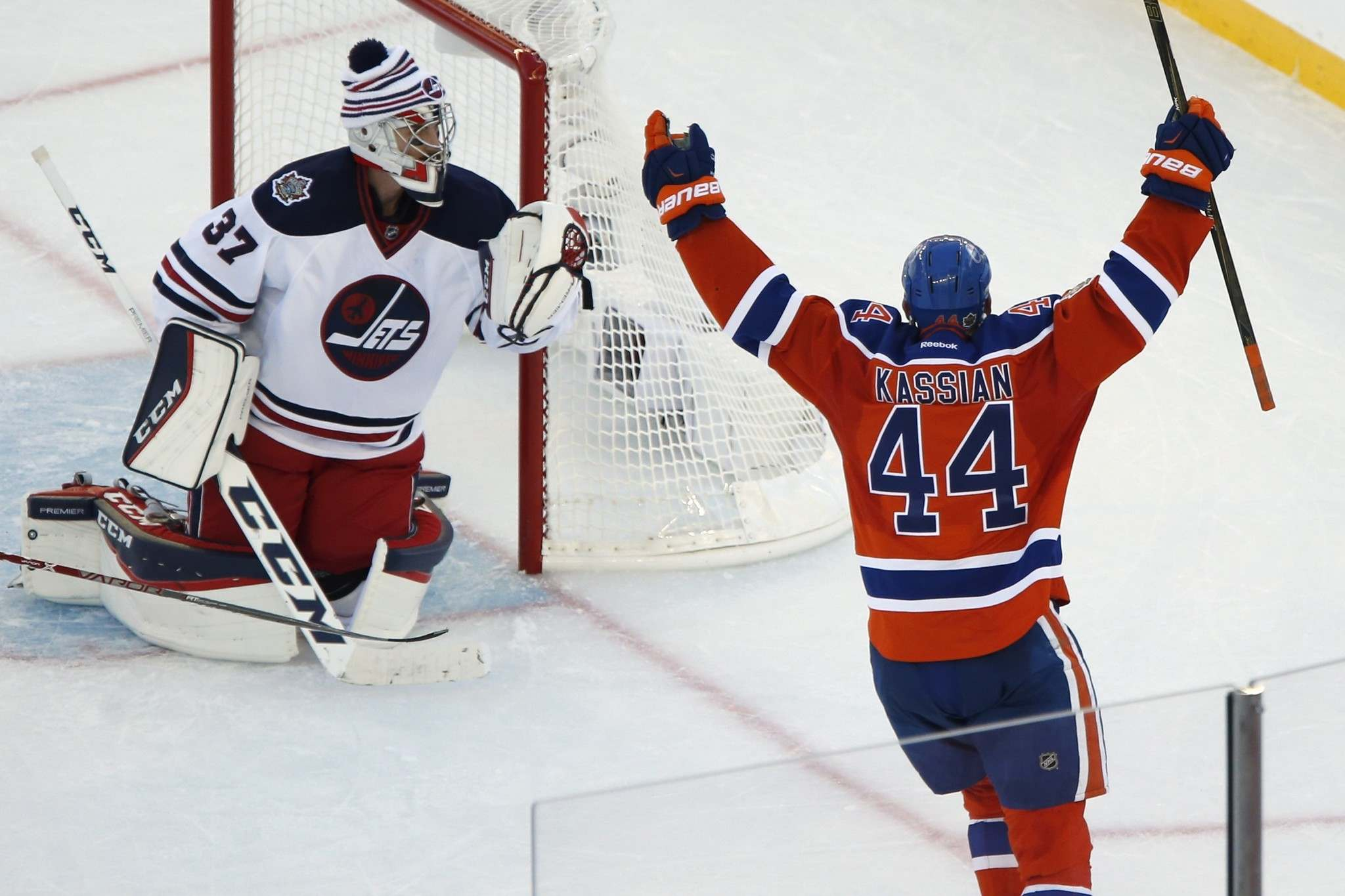 """The Edmonton Oilers beat Winnipeg 3-0 the last time the Jets played outdoors. (John Woods / The Canadian Press files)</p> <p>""""></a><figcaption readability="""