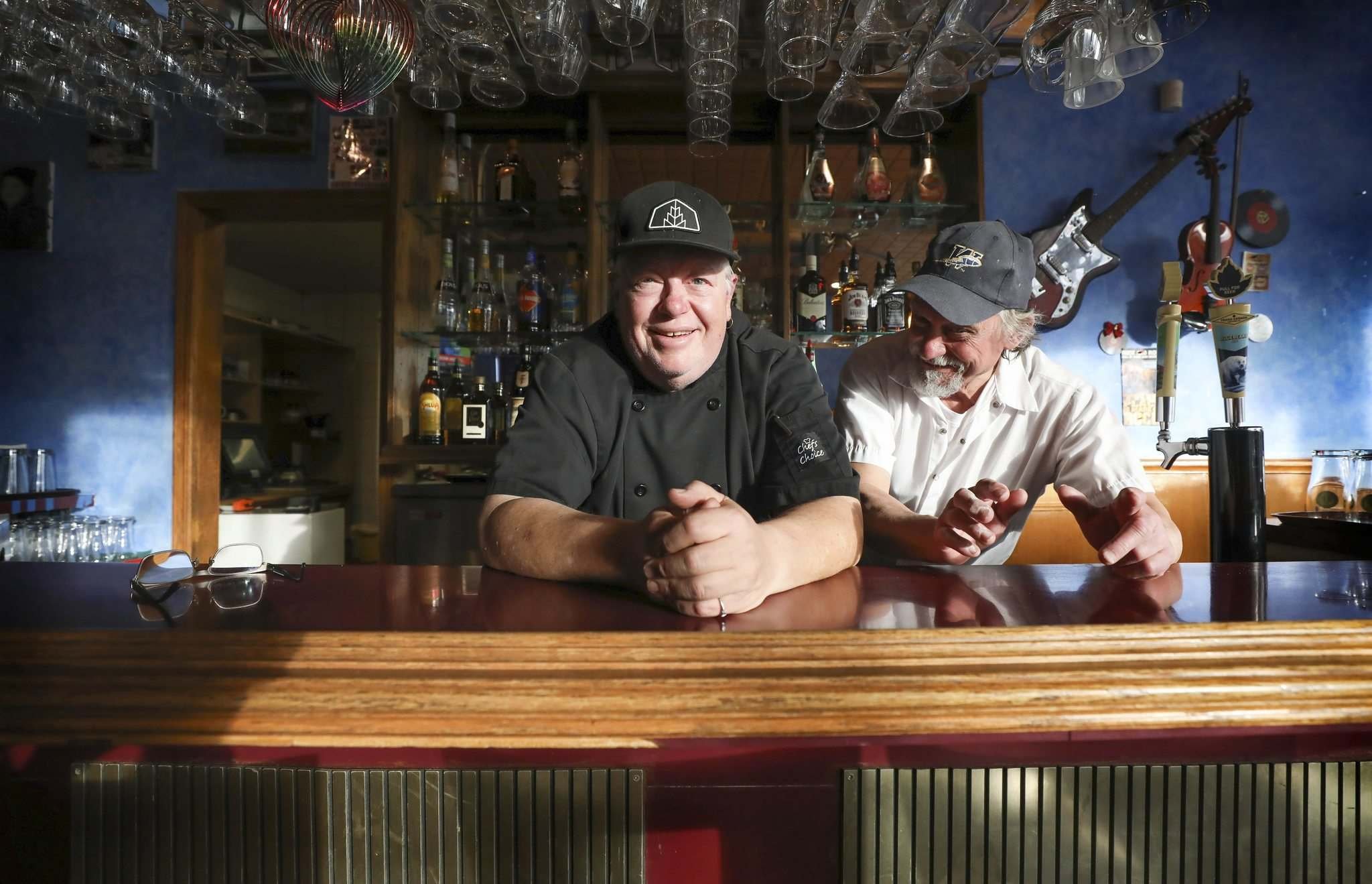 Ross Jeffers (left) hoped to host weekend brunches at Bella Vista in collaboration with Armand Colosimo, instead he bought the place. (Ruth Bonneville / Winnipeg Free Press)