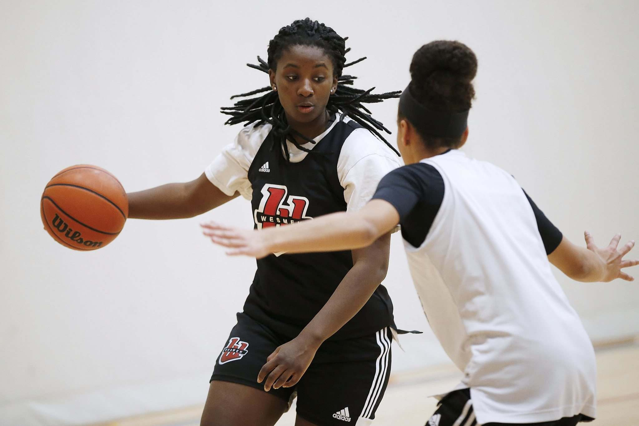 Hezekiah is used in all situations and all over the court and she's poised to earn all-Canadian honours for the first time. (John Woods / Winnipeg Free Press)