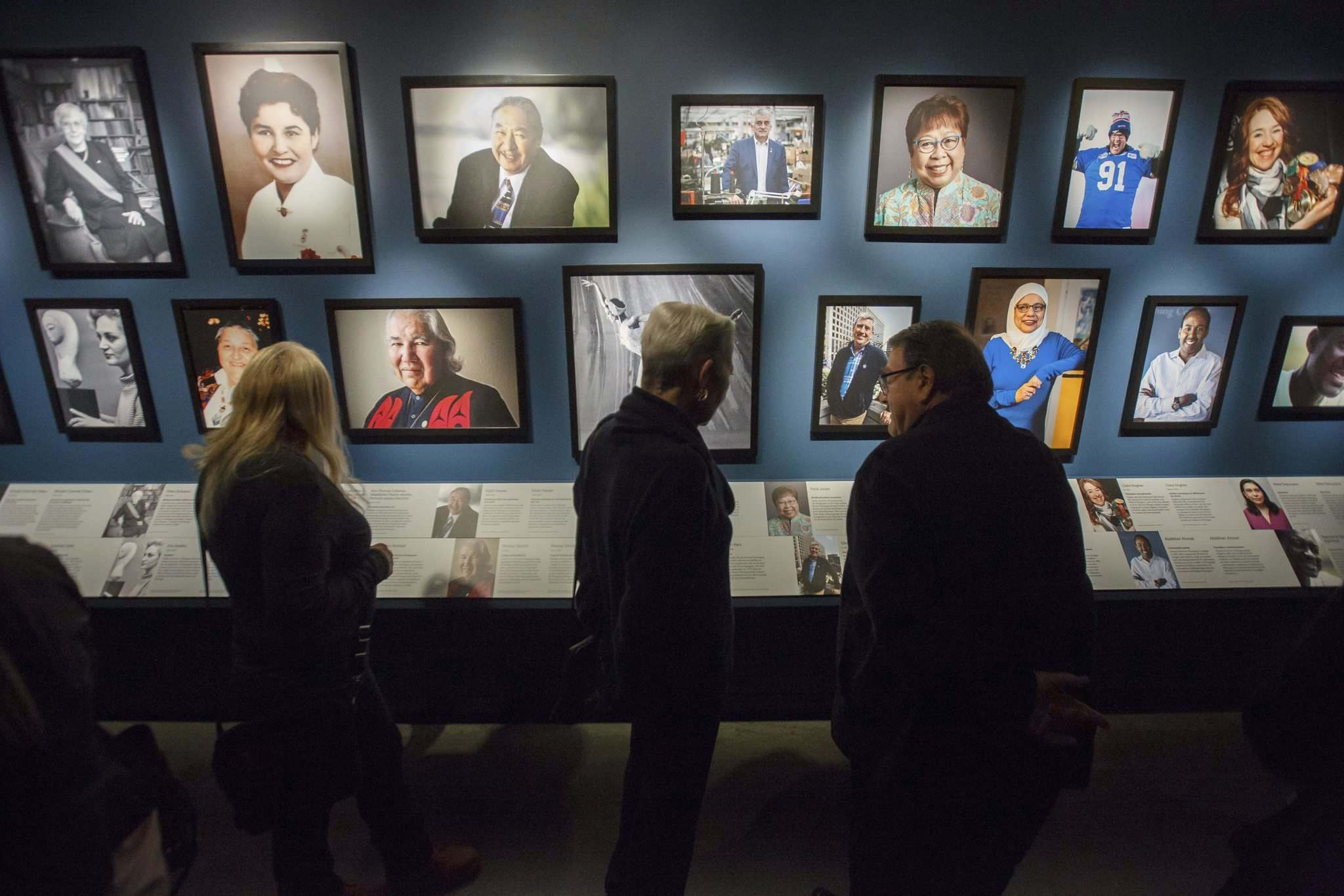 The Personalities Wall features 30 notable Winnipeggers from all walks of life. (Mike Deal / Winnipeg Free Press)