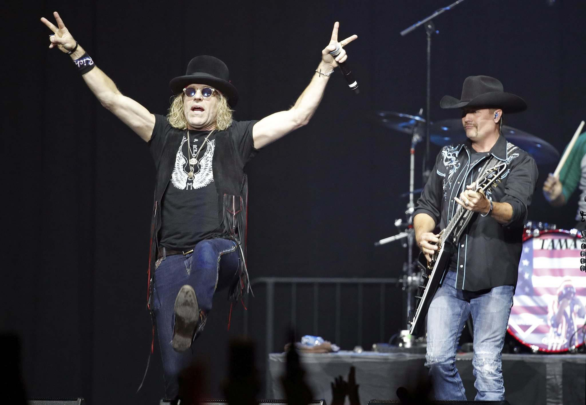 Big Kenny (left) and John Rich of Big & Rich play Saturday's mainstage. (John Locher / The Associated Press files)