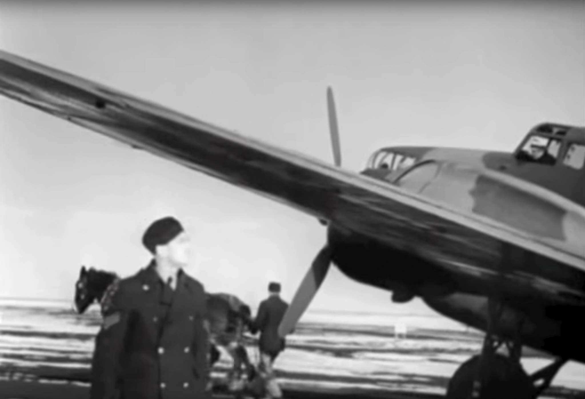 """I know it was all hush-hush back then, but to see a World War Two plane and see locals pulling it would have been quite a sight,"" Wayne Arseny said. (National Film Board)"
