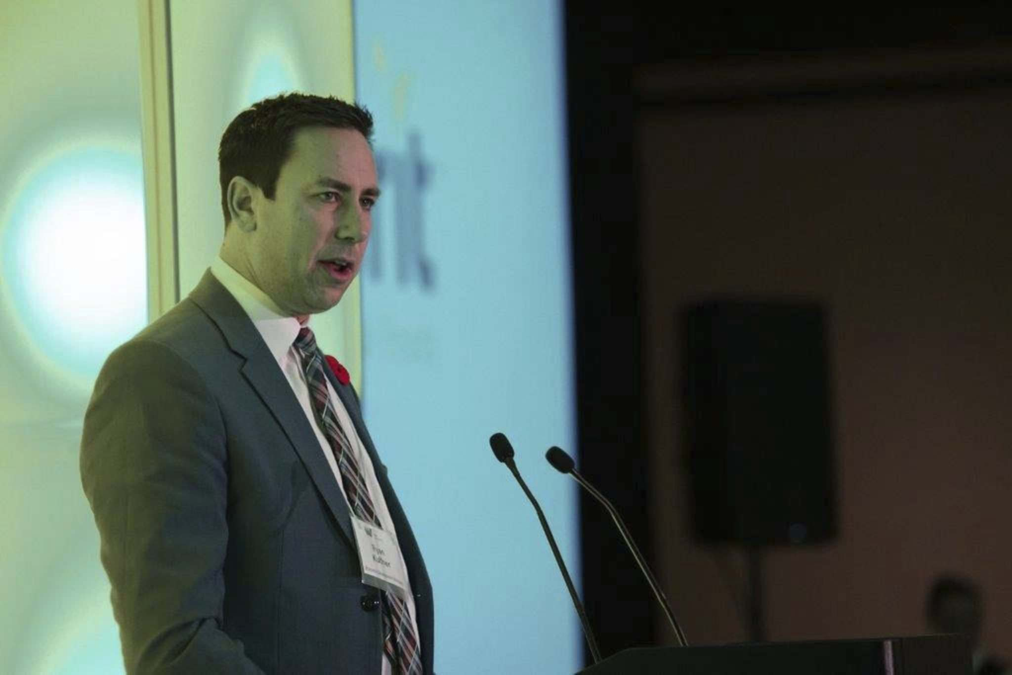 Martin Cash / Winnipeg Free Press</p><p>Ryan Kuffner, head of the Yes! Winnipeg team, said private sector investment in the city's business attraction, retention and recruitment organization is up this year.</p>