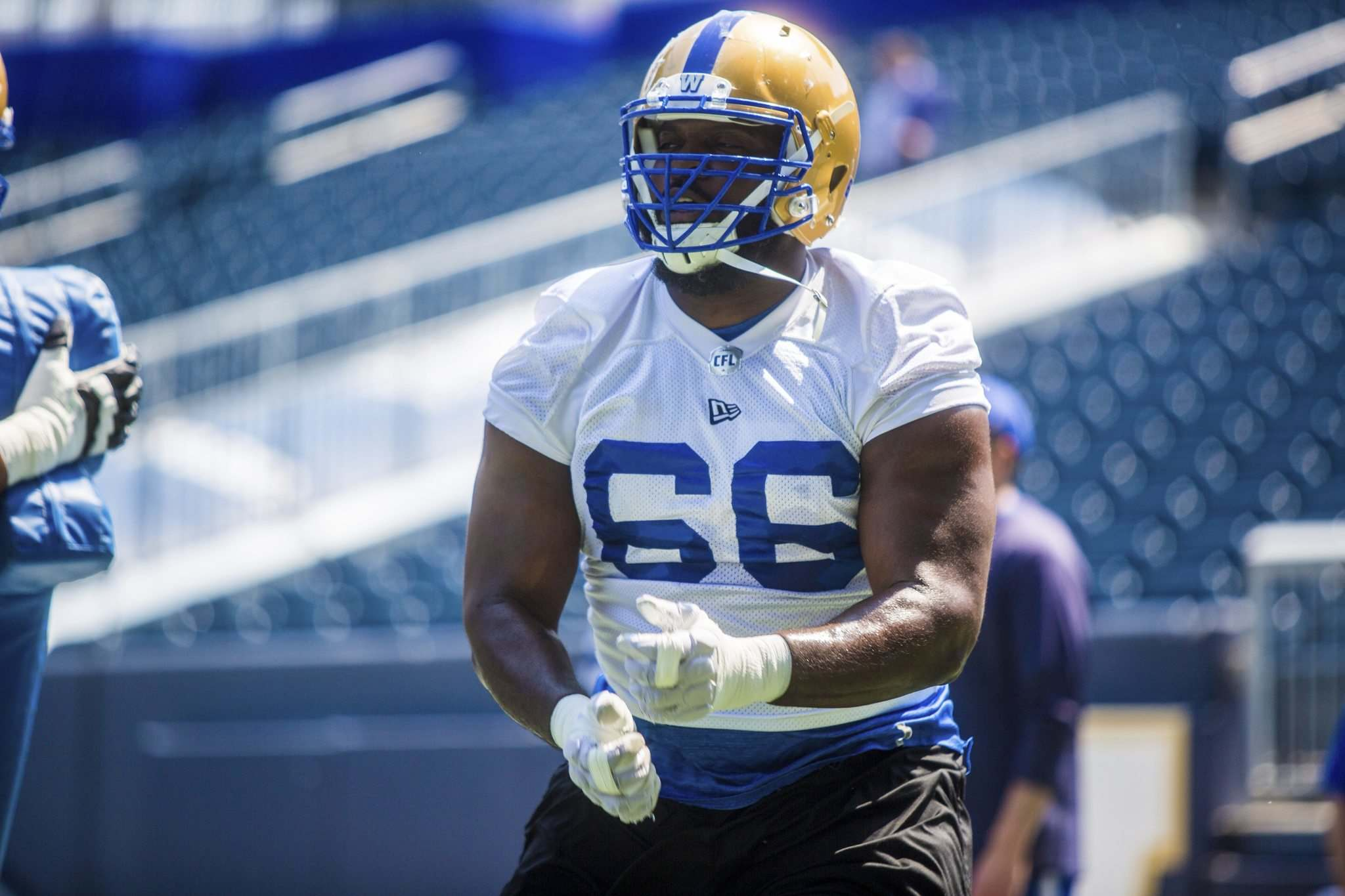 MIKAELA MACKENZIE / WINNIPEG FREE PRESS FILES</p><p>The Bombers' Stanley Bryant is looking to three-peat as the CFL's most outstanding offensive lineman.</p>