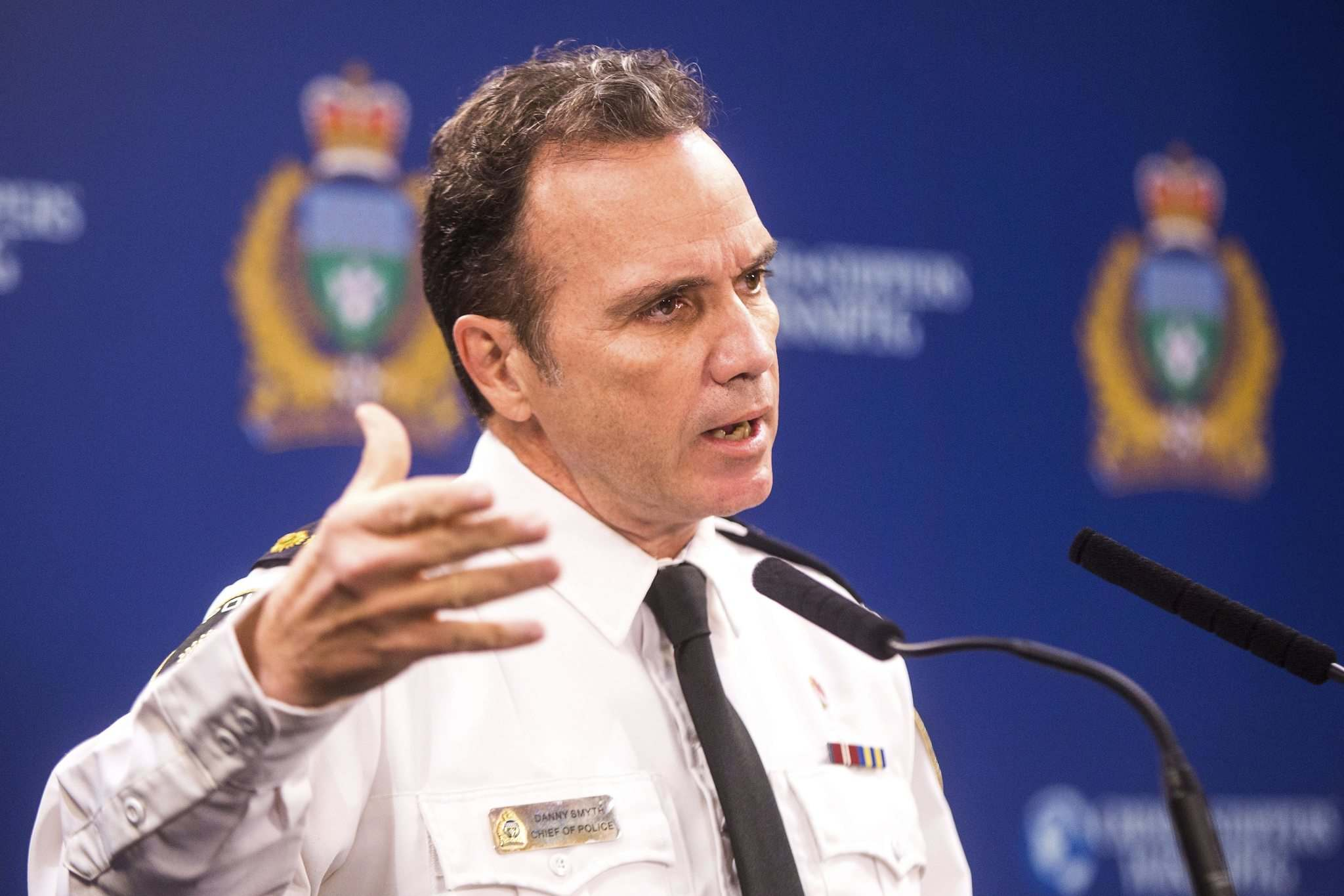 Winnipeg police Chief Danny Smyth says the level of crime is alarming to citizens and officers alike. (Mikaela MacKenzie / Winnipeg Free Press)