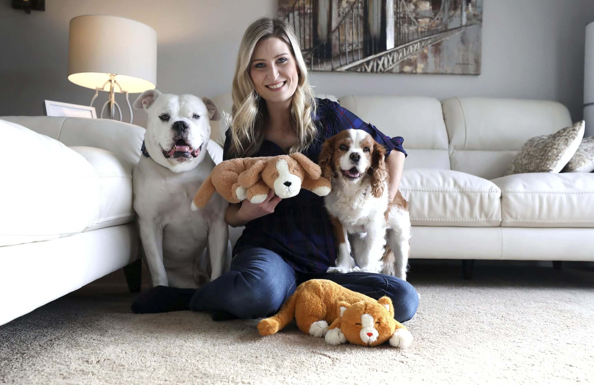 """I know with my own dogs, bringing home a puppy can be tough, especially for the puppy,"" says Crystal McPherson. (Ruth Bonneville / Winnipeg Free Press)"