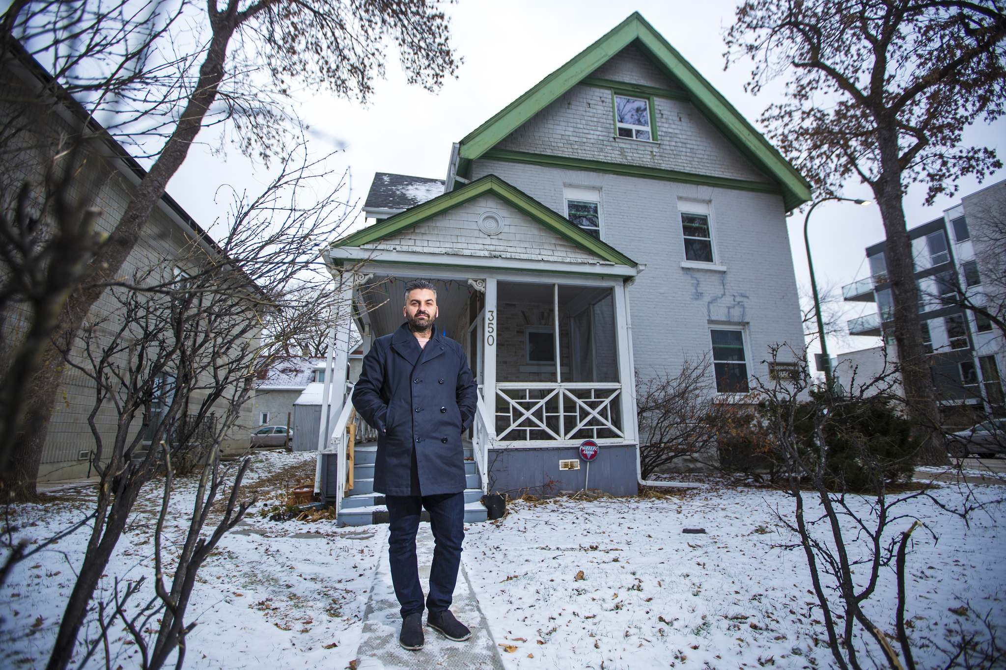 MIKAELA MACKENZIE / WINNIPEG FREE PRESS</p><p>Architect Andre Silva wants to build affordable housing at 350 River Ave. in Osborne Village. He's surprised the project garnered negative reaction.</p>