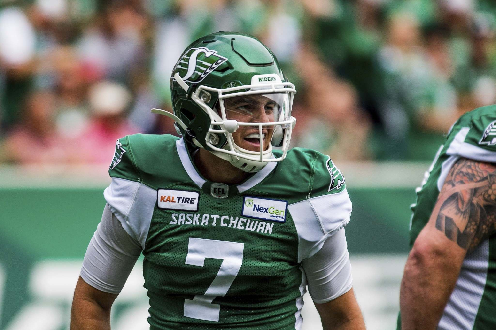 Saskatchewan Roughriders quarterback Cody Fajardo hasn't played since Oct. 30 when he injured an oblique muscle in practice but will be the starter on Sunday. (Matt Smith / The Canadian Press files)</p>
