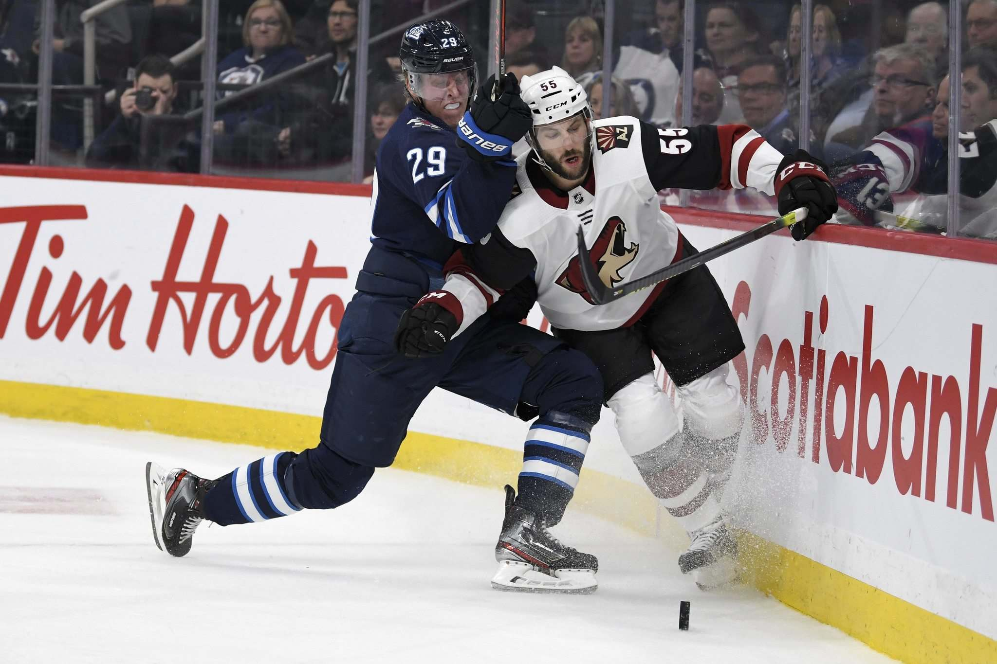Fred Greenslade / The Canadian Press files</p><p>Arizona Coyotes defenceman Jason Demers will tell you Jets winger Patrik Laine has shown a willingness to be physical along the boards.</p>
