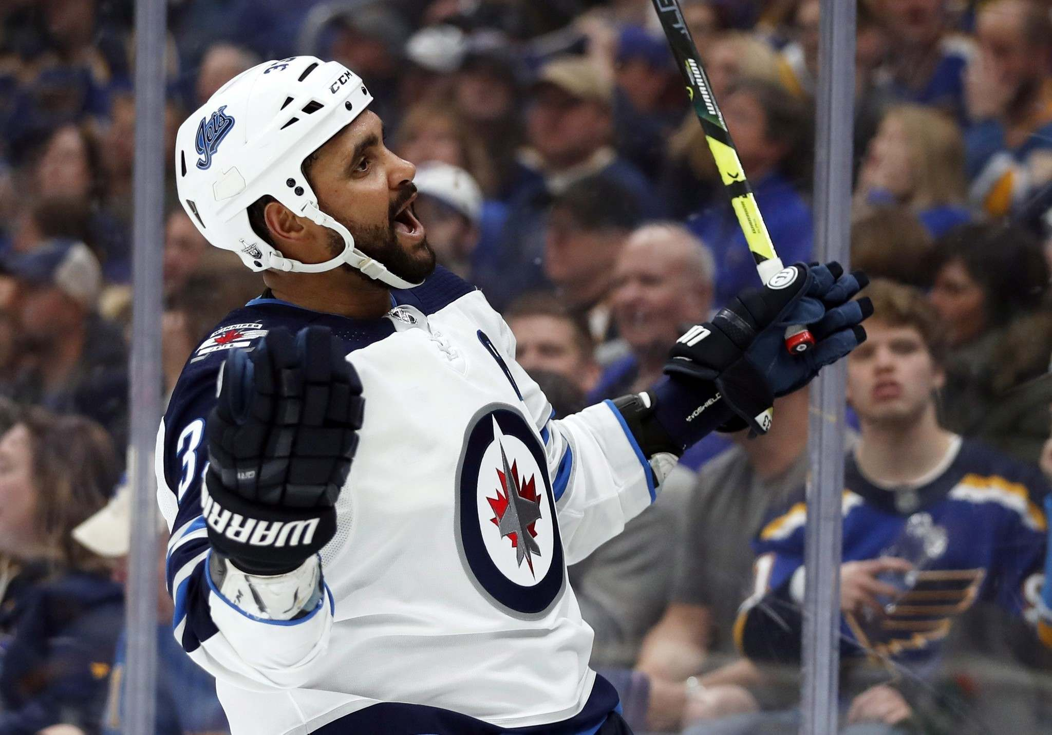 THE CANADIAN PRESS/AP/Jeff Roberson</p><p>Dustin Byfuglien was suspended by the Winnipeg Jets after he failed to report to training camp.</p>