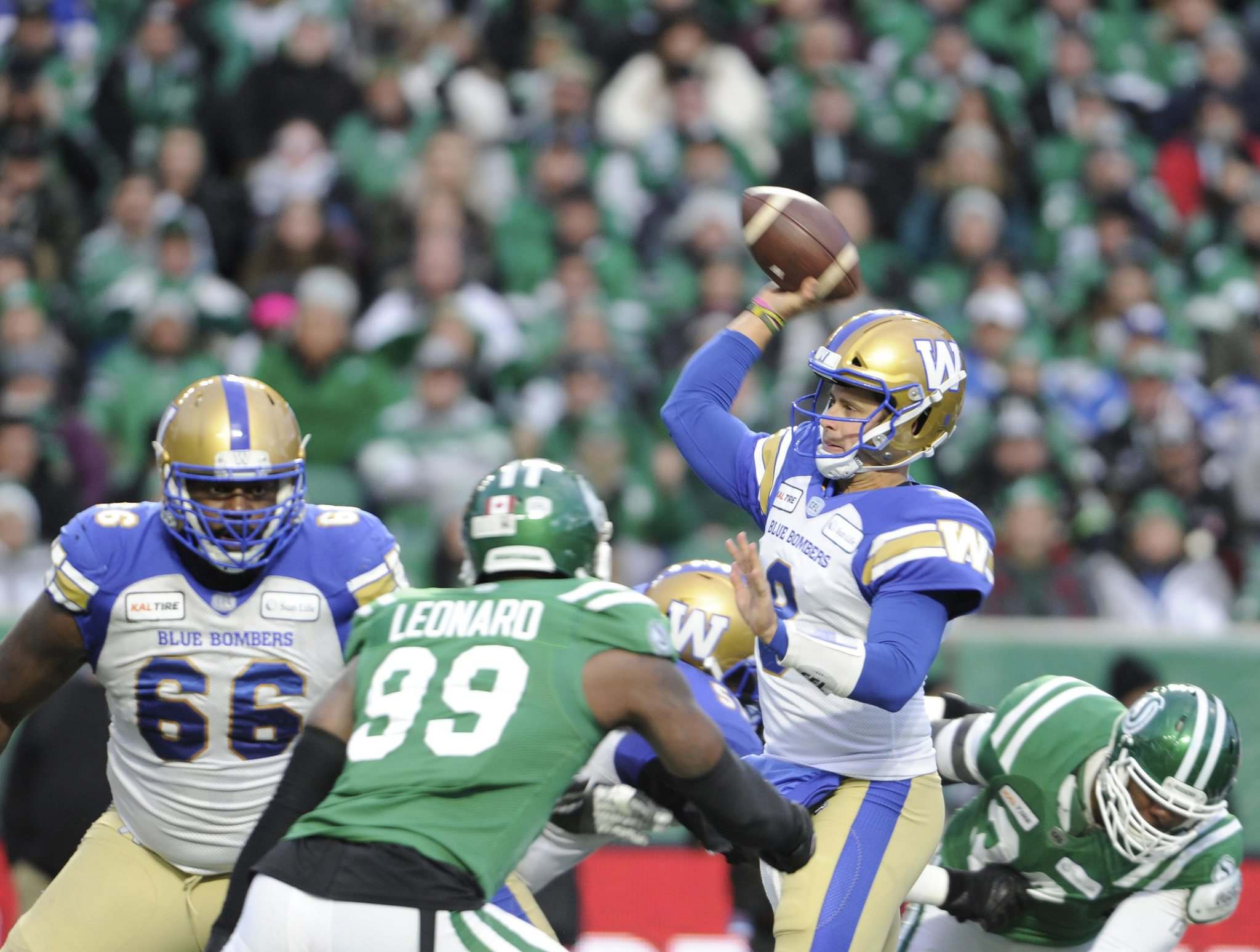 Winnipeg Blue Bombers QB Zach Collaros is looking to cap his comeback with a Cinderella finish in the Grey Cup. (Mark Taylor / The Canadian Press files)