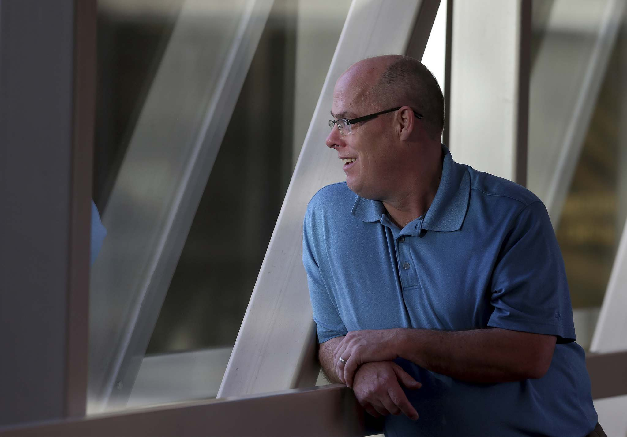 David Kron says while the skywalk isn't perfect, it fills a need for many. (Shannon VanRaes / Winnipeg Free Press)