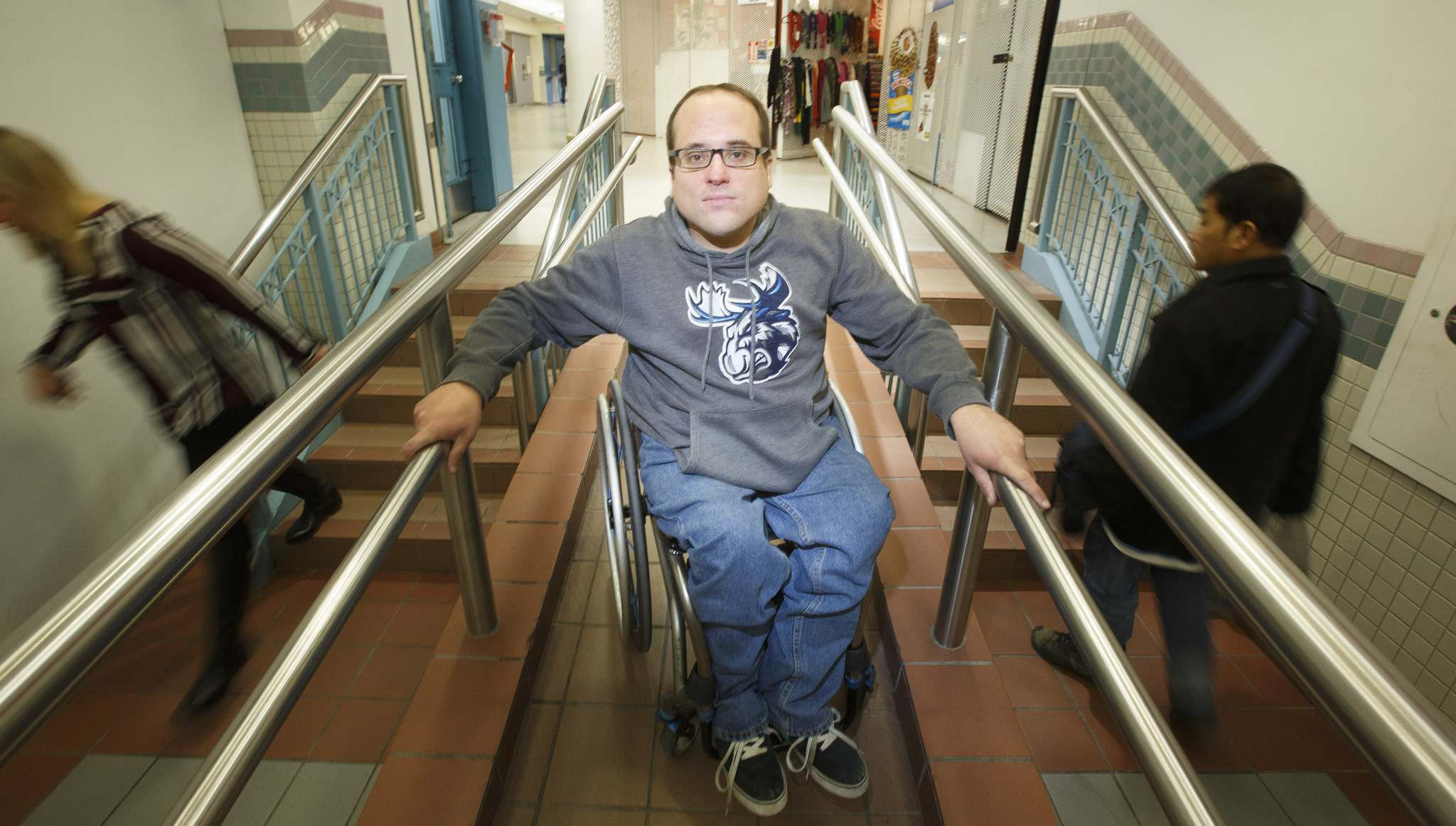 Allen Mankewich has been vocal in the past when lifts in the concourse under Portage and Main have been out of service for long periods of time. (Mike Deal / Winnipeg Free Press)