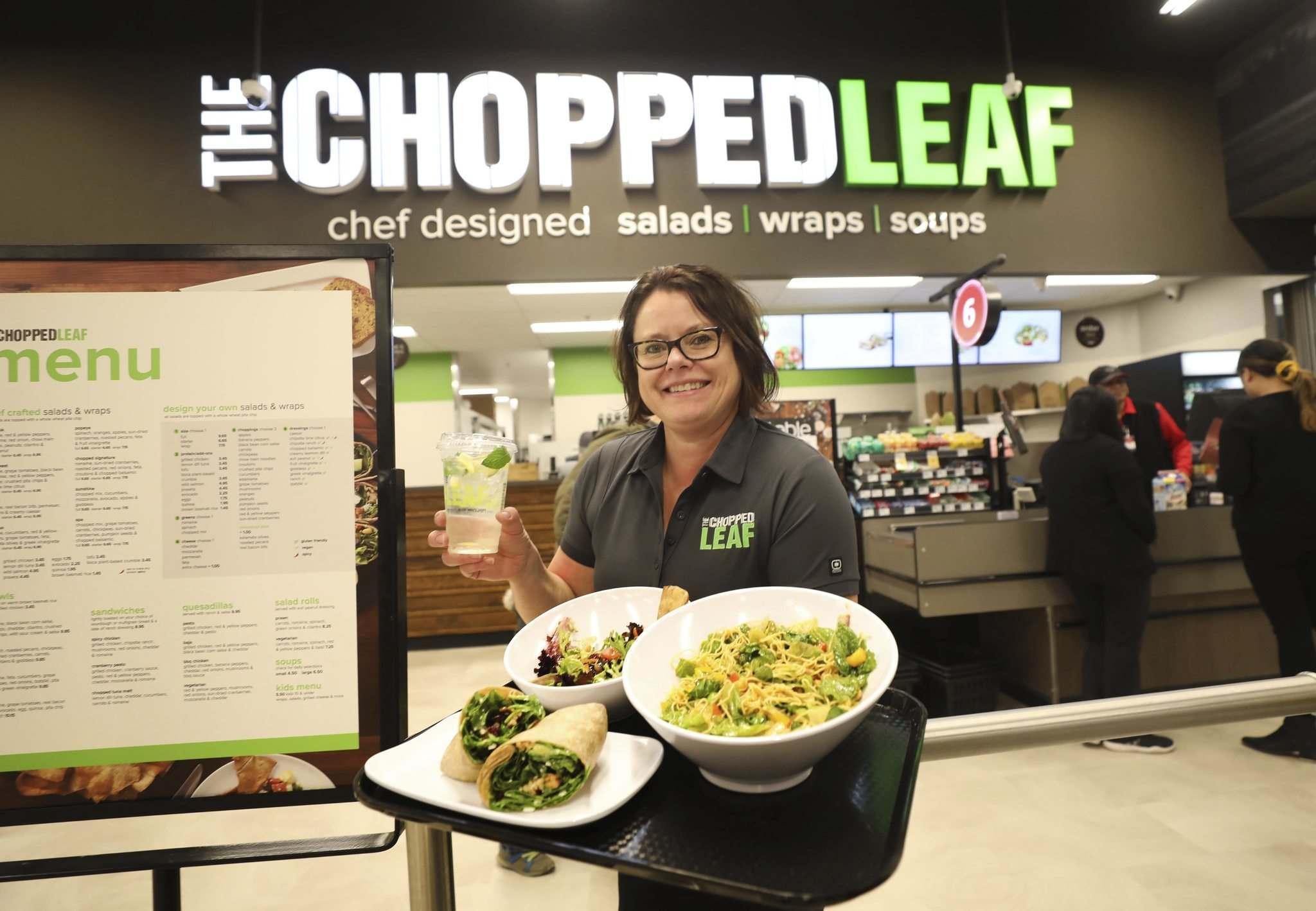 RUTH BONNEVILLE / WINNIPEG FREE PRESS</p><p>Velika Heathcote, the manager of The Chopped Leaf in Winnipeg, the new to-go restaurant in Red River Co-op in Grant Park Mall that offers vegan, vegetarian and gluten-free options. </p>
