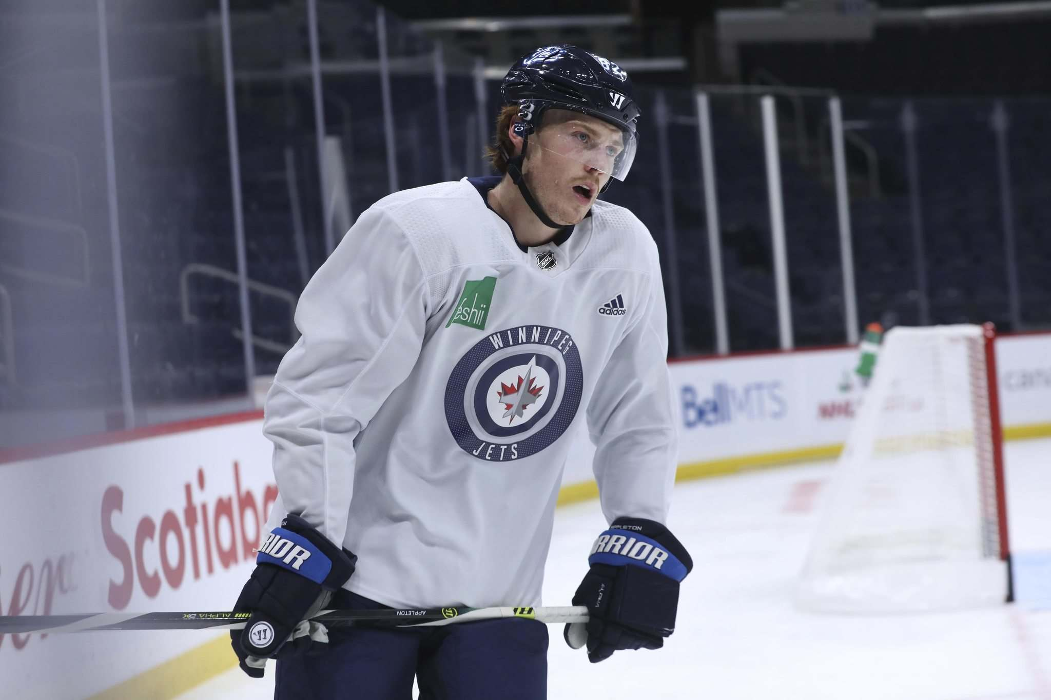 Winnipeg Jets' Mason Appleton has missed 17 games with a foot injury suffered in an off-ice incident before the Heritage Classic in Regina in late October.