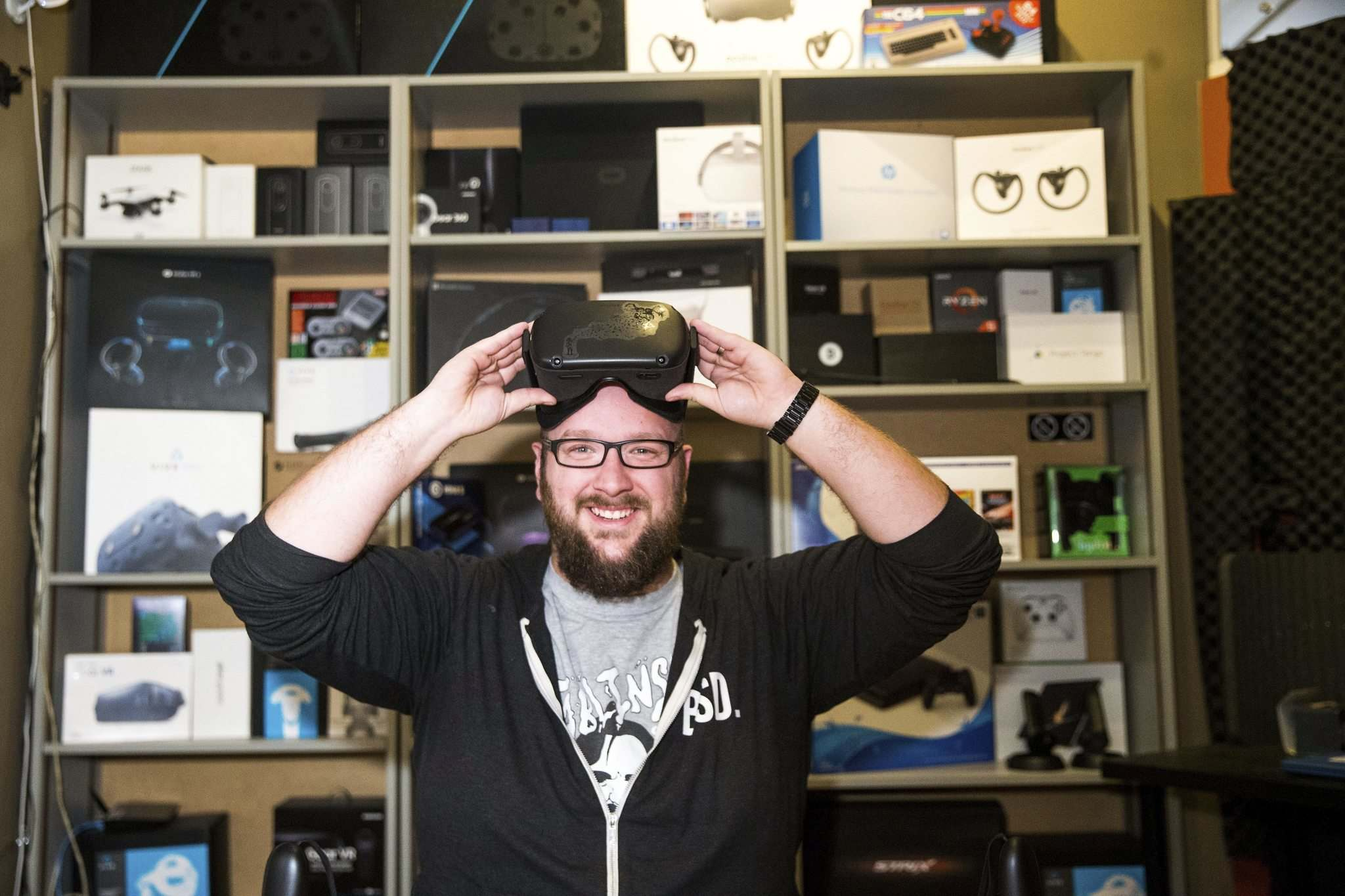 MIKAELA MACKENZIE / WINNIPEG FREE PRESS</p><p>Dan Blair, founder and president of Winnipeg-based virtual-reality-technology company Bit Space Development, expects the firm will double in size by the end of next year. </p>