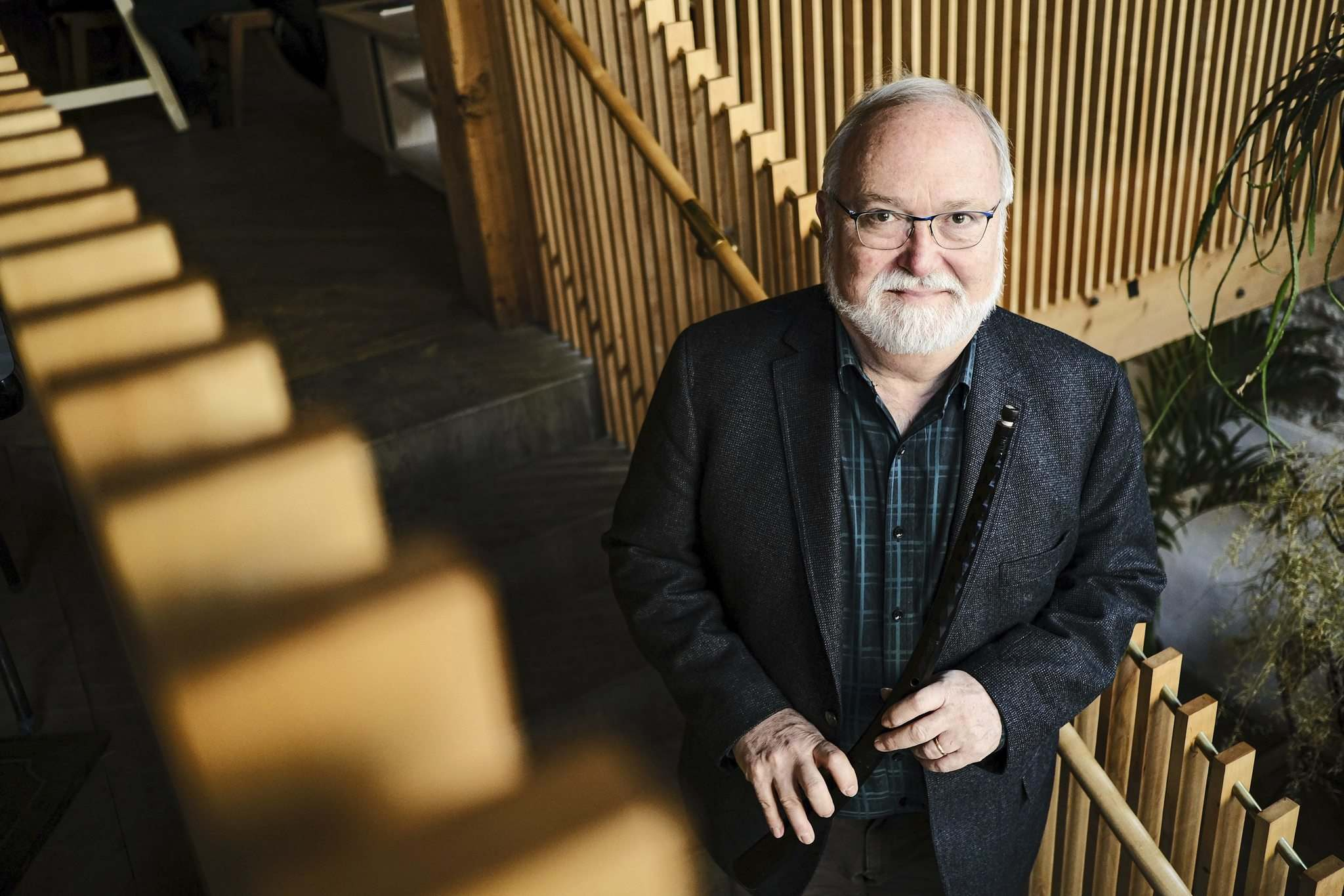 Bruce Dickey is in Winnipeg to perform with the Camerata Nova during their December 13 and 14th shows at Crescent Fort Rouge Community Church. (Mike Sudoma / Winnipeg Free Press)