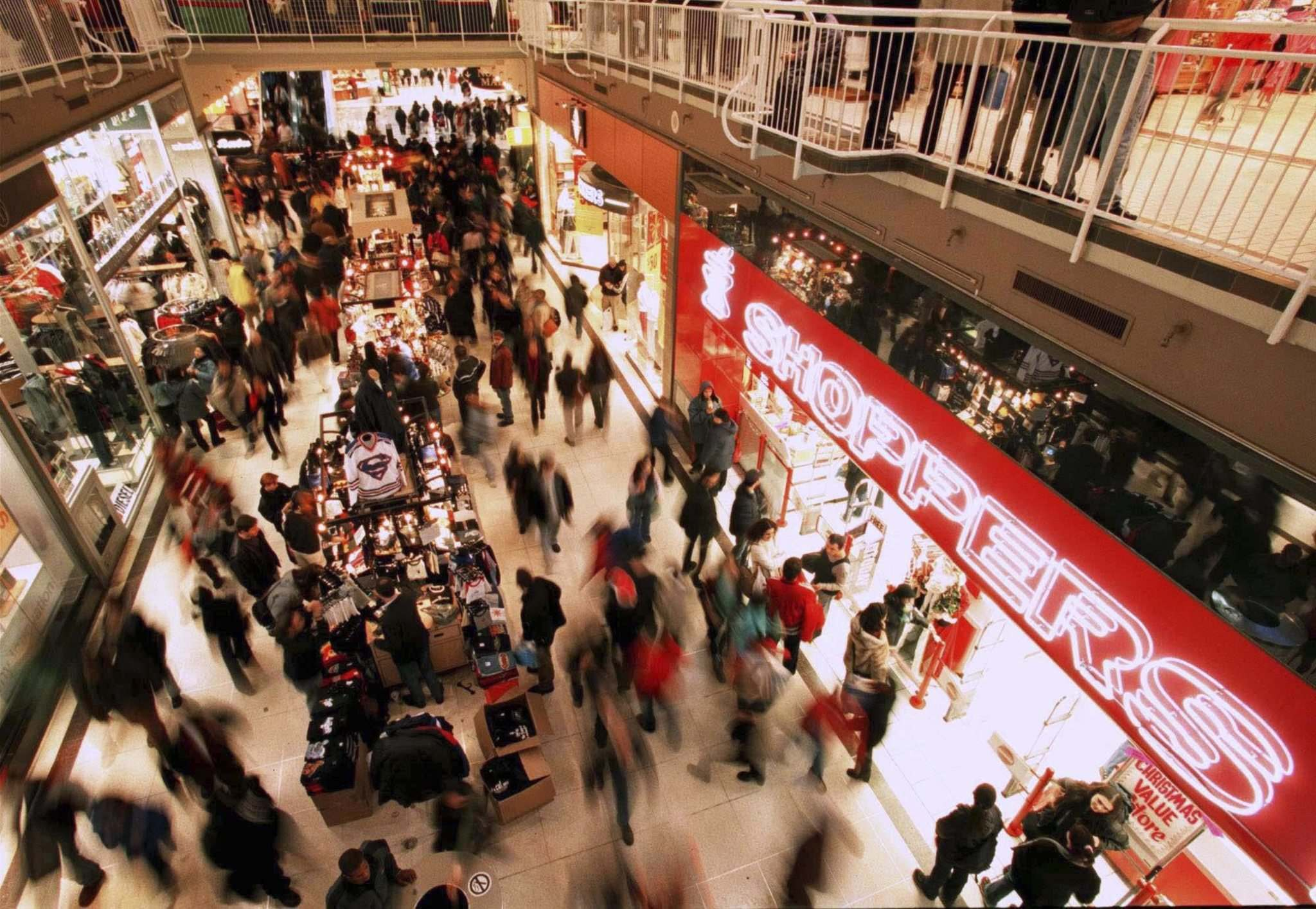 DAVID COOPER / THE CANADIAN PRESS FILES</p><p>Mall crowds may be a thing of the past. About a quarter of consumers said they shopped in malls at least once weekly pre-pandemic; that proportion is expected to be cut in half, the survey says.