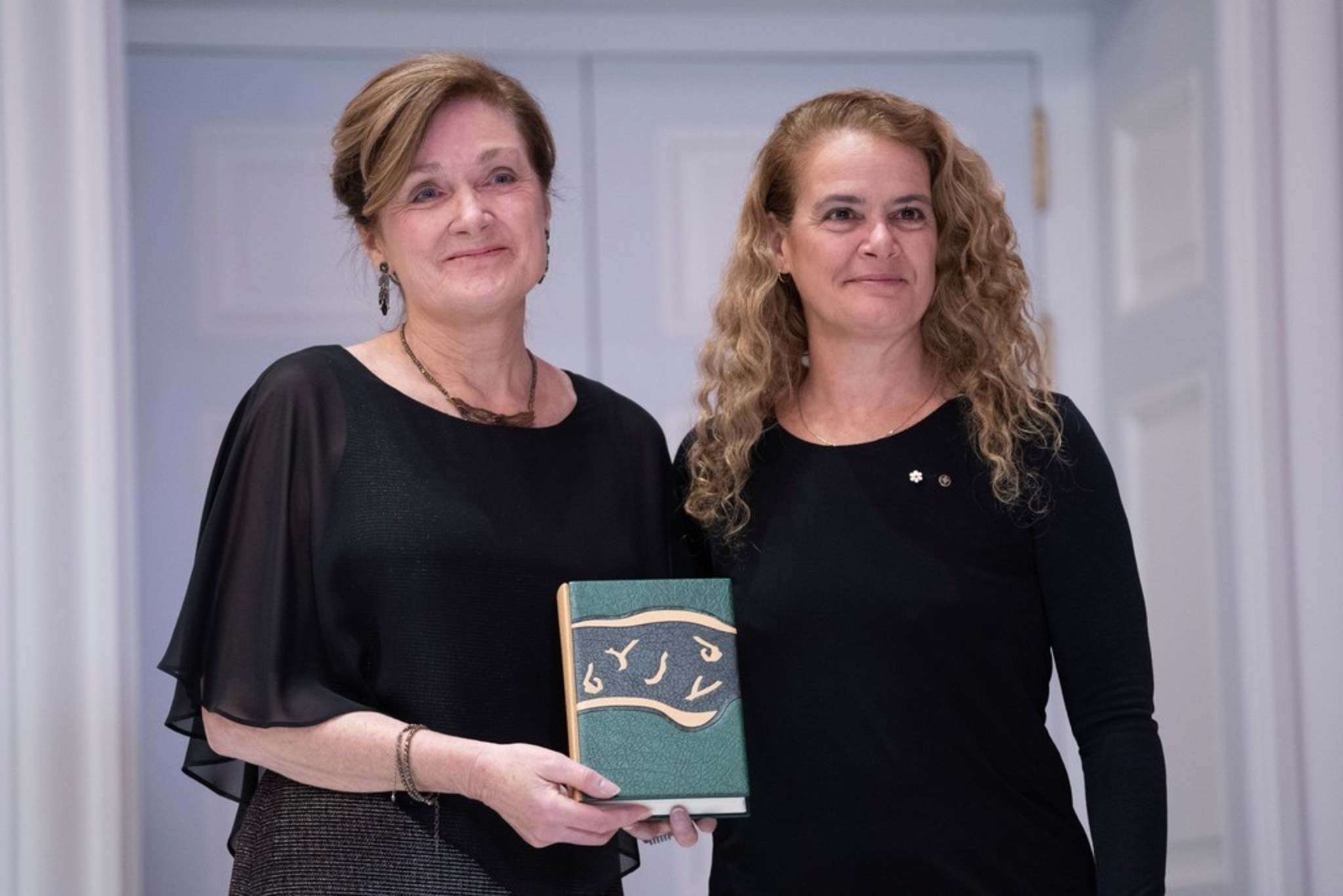 CHRIS WATTIE / THE CANADIAN PRESS FILES</p><p>Joan Thomas, with Governor General Julie Payette, was awarded the 2019 Governor General's English-language award for fiction for her fourth novel, Five Wives, in October. The award included a $25,000 cash prize.</p>