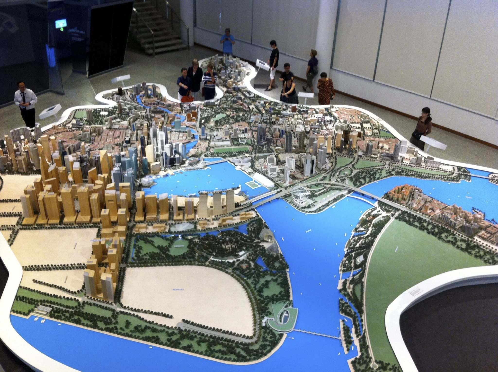 The Singapore gallery offers an immersive experience for visitors to learn about city development. (Gabrielle Donoff)
