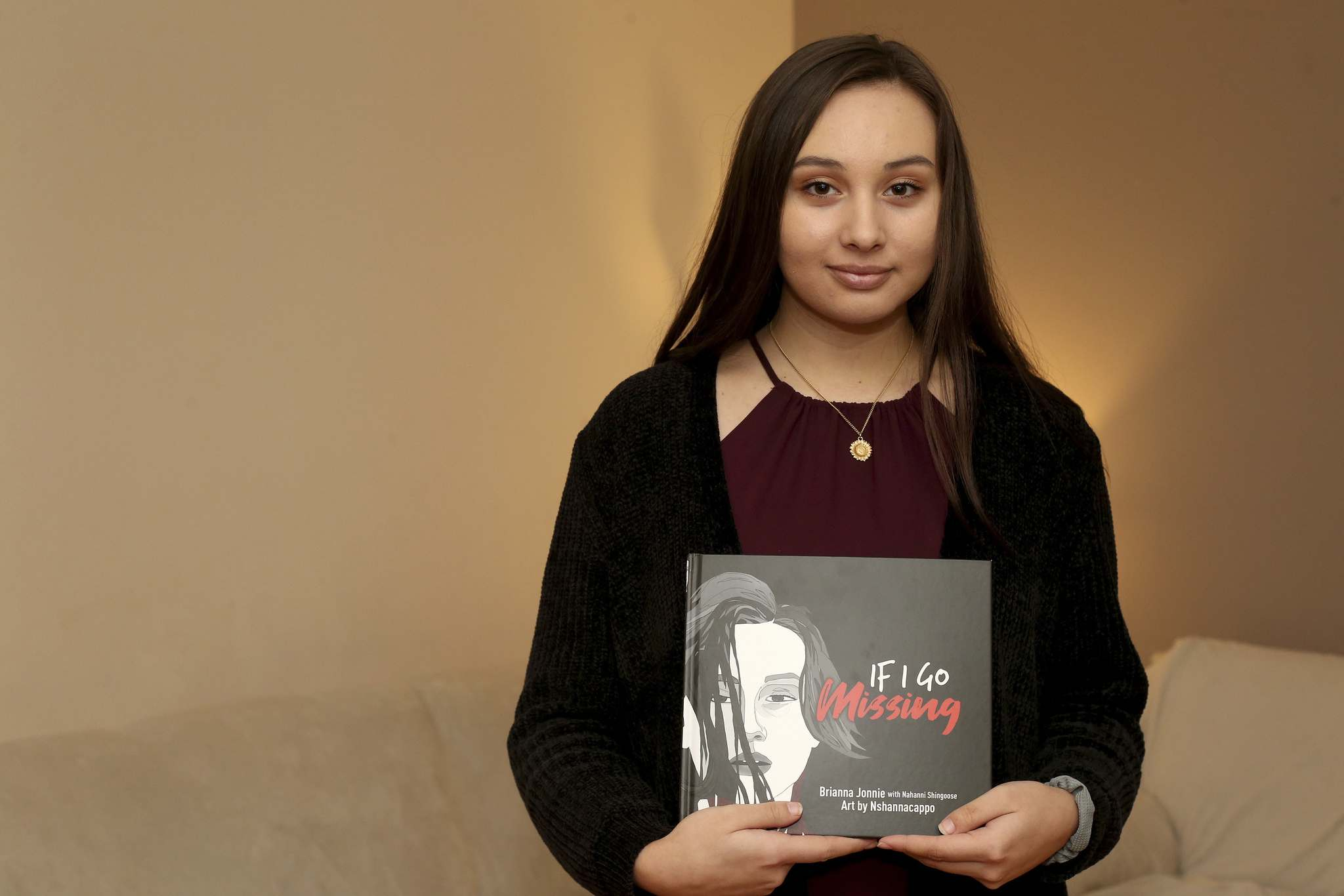 """I would never have dreamed any of this would have happened — let alone the book — when I wrote my letter,"" Brianna Jonnie said. (Shannon VanRaes / Winnipeg Free Press)"