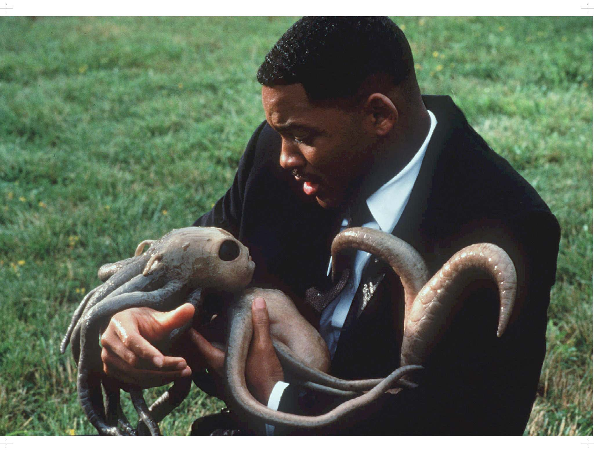 SUPPLIED</p><p>Will Smith holds a newborn alien in a scene from Men in Black.</p>