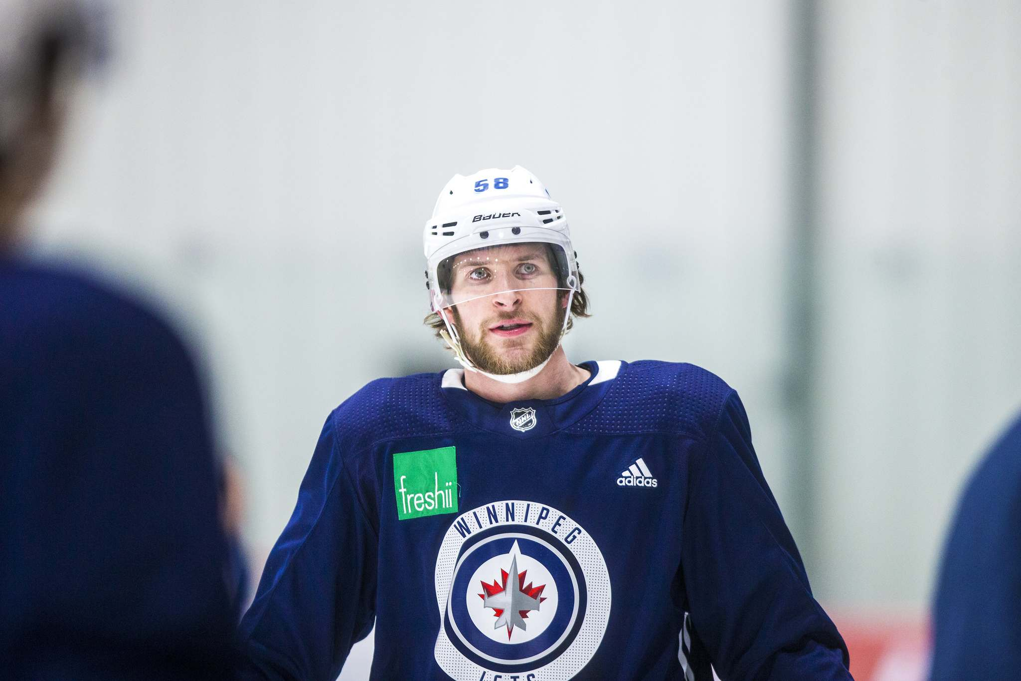 Rookie Jets forward Jansen Harkins will draw back into the lineup. (Mikaela MacKenzie / Free Press files)</p>