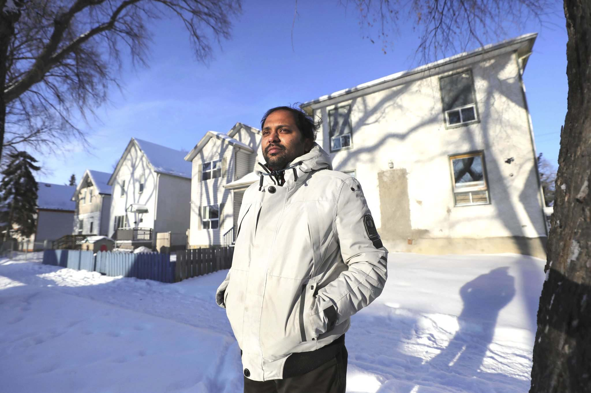 """The problem is still there. It's not over. I am not in a position to do any work there. I am, myself, afraid to go there,"" Jose Pothokkaran said. (Ruth Bonneville / Winnipeg Free Press)"