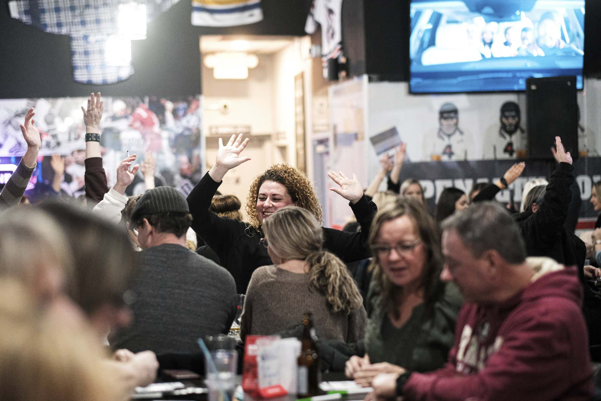 Mike Sudoma / Winnipeg Free Press</p><p>Music Bingo goers enjoy a night of drinks and their favourite tunes from all genres throughout the different decades</p><p>January 10, 2020</p>
