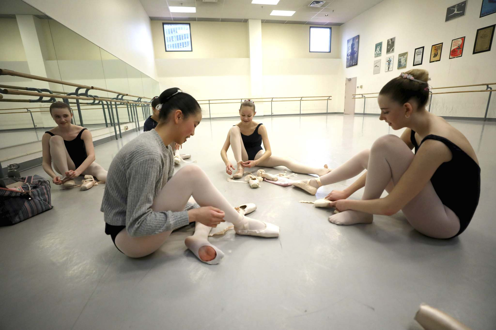 The young dancers have had to give up activities such as skiing and snowboarding to avoid injury.