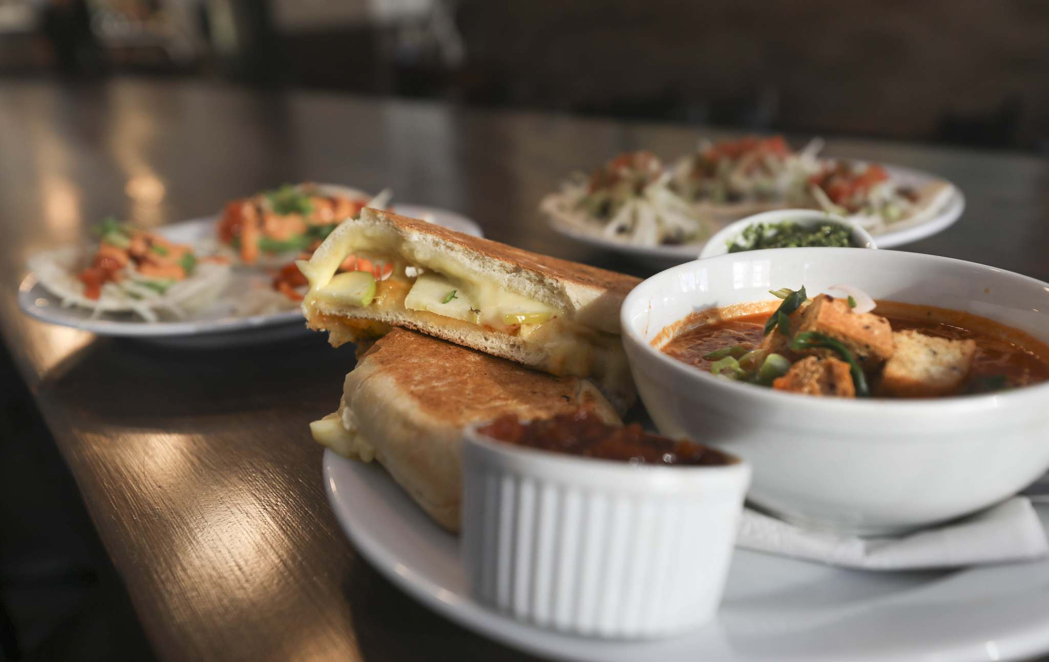 The modest but comfortable Ruby West features an eclectic menu of familiar foods, including tomato soup with an 'Adult Grilled Cheese Sandwich,' which combines Swiss and Muenster cheeses.</p>