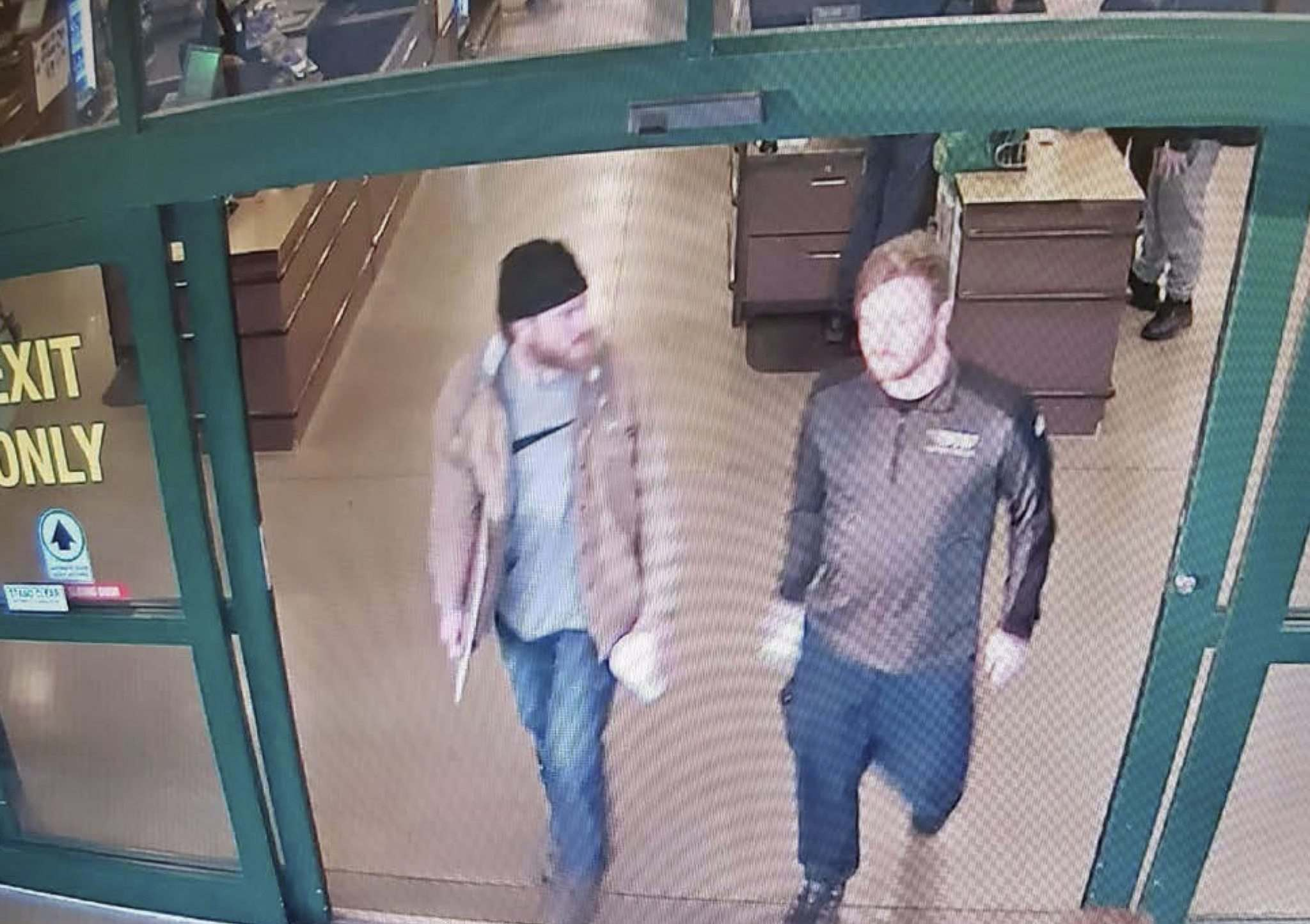 From court documents: On Jan. 1, at a store in Delaware, Lemley and  Mathews (left) purchased approximately 150 rounds of 5.56 mm ammunition, as well as paper shooting targets. (U.S Attorney Detention Motion)