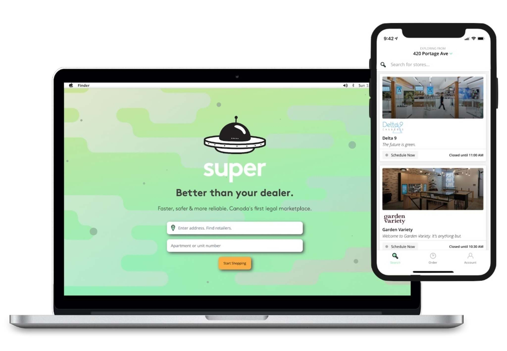 (Supplied)</p><p>Super doesn't sell cannabis directly, but lets users browse stock at multiple licensed cannabis retailers and place orders for delivery. </p>