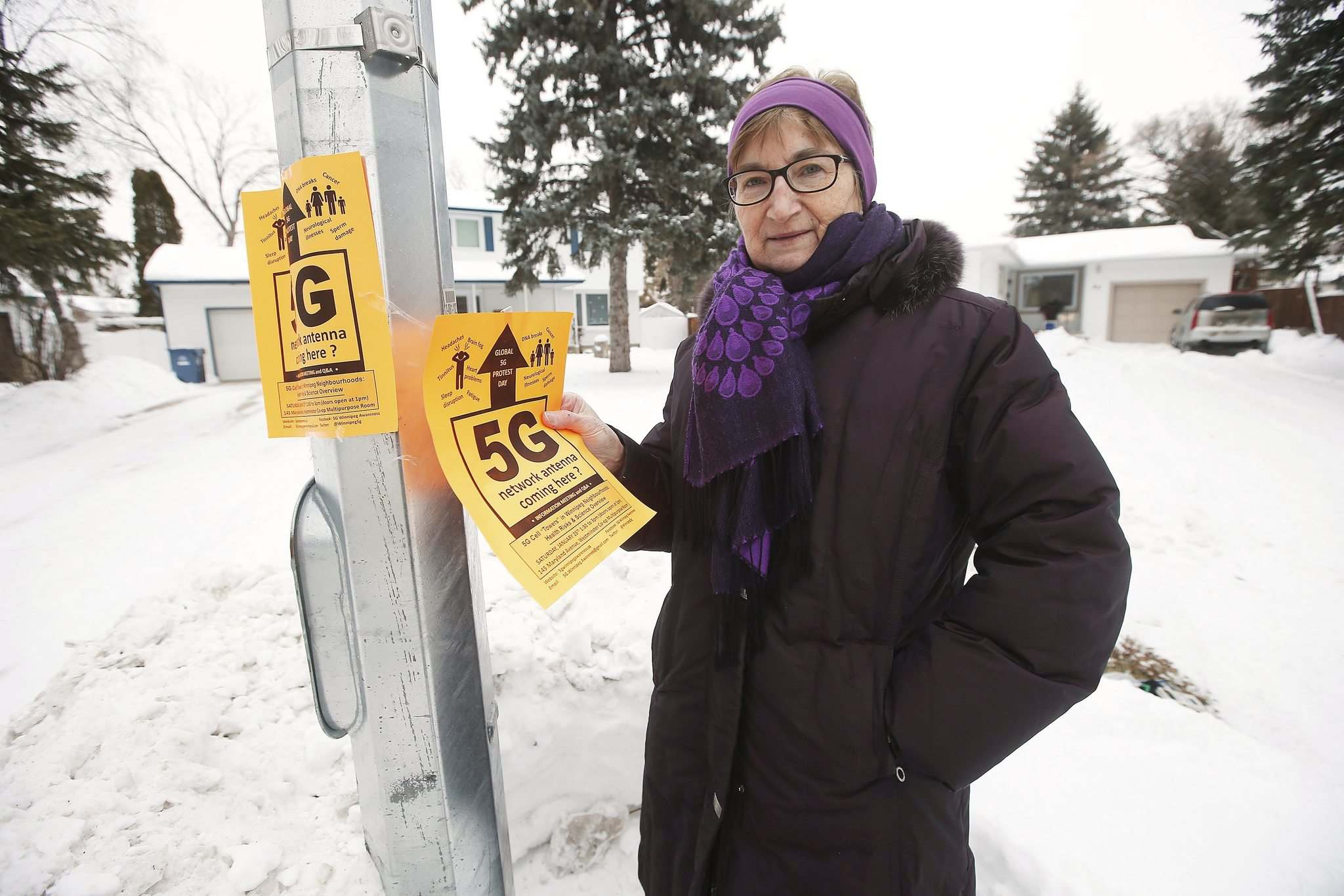 Retired biologist Margaret Friesen suffers from electromagnetic hypersensitivity and has familiarized herself with the medical literature in relation to 5G. (John Woods / Winnipeg Free Press)