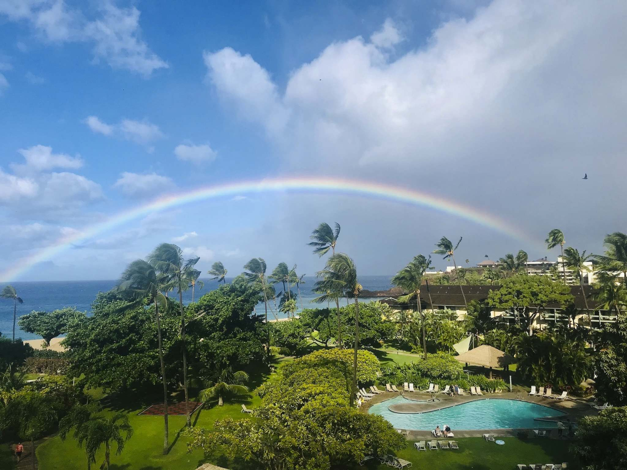 </p><p>Photos by Kim Pemberton / Winnipeg Free Press</p><p>It's not surprising one of the nicknames for Hawaii is the rainbow state. A rainbow spotted from one of the suite terraces at the Ka'anapali Beach Hotel in Maui.</p></p>