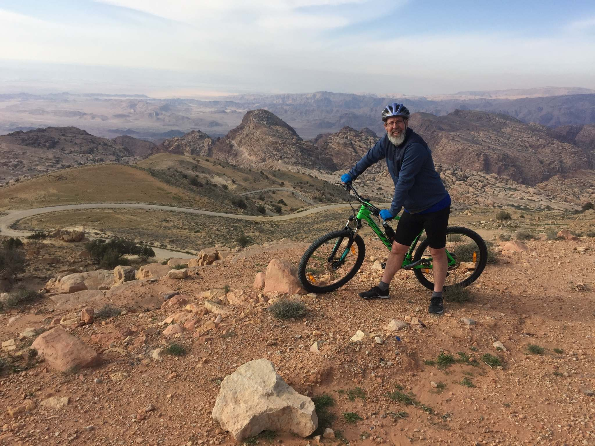 A full year of biking all over the globe for Lyons started in Jordan.</p>