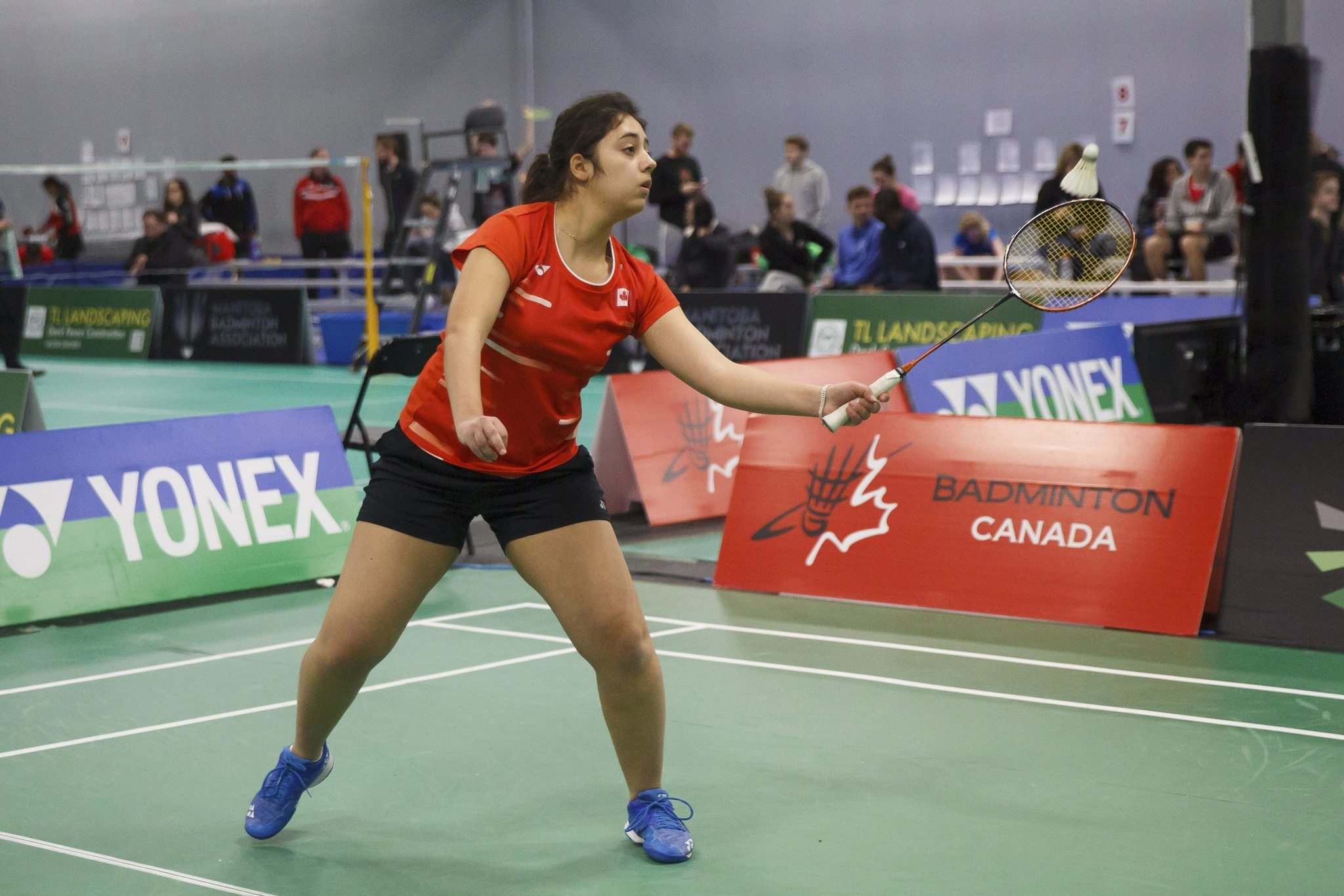 Meier is currently ranked No. 11 in the world in women's singles and No. 12 in mixed doubles with her partner Pascal Lapointe, who hails from Montreal. (Mike Deal / Winnipeg Free Press)