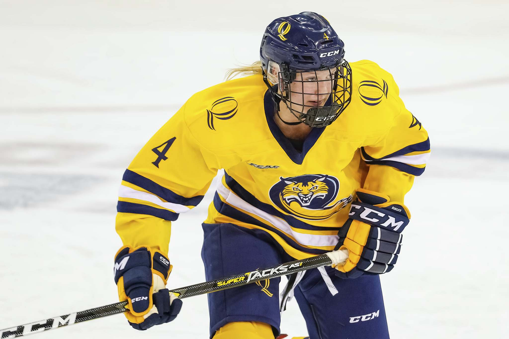 """It's fun being in a league and having something to compete for and I think that's what made the Sports School Challenge so exciting,"" says Kate Mackenzie, a St. Mary's alum who spent four seasons playing for the NCAA's Quinnipiac University Bobcats. (Rob Rasmussen photo)"