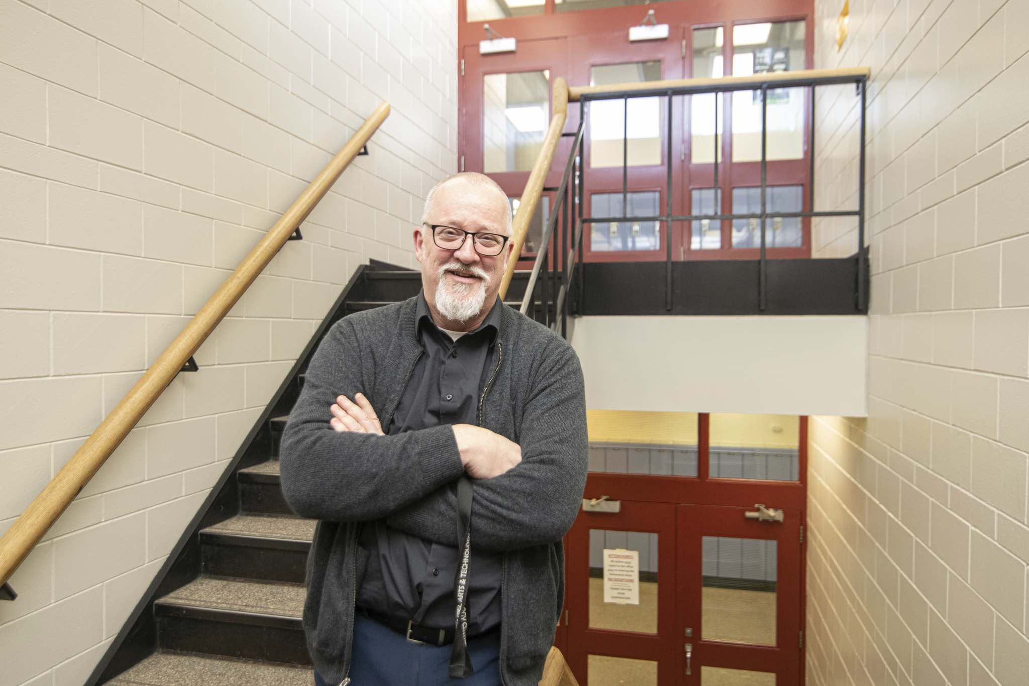 Mike Sudoma / Winnipeg Free Press</p><p>Louis Riel Arts and Technology Centre Principle, Brian Cameron is a big supporter of esports in schools.</p>