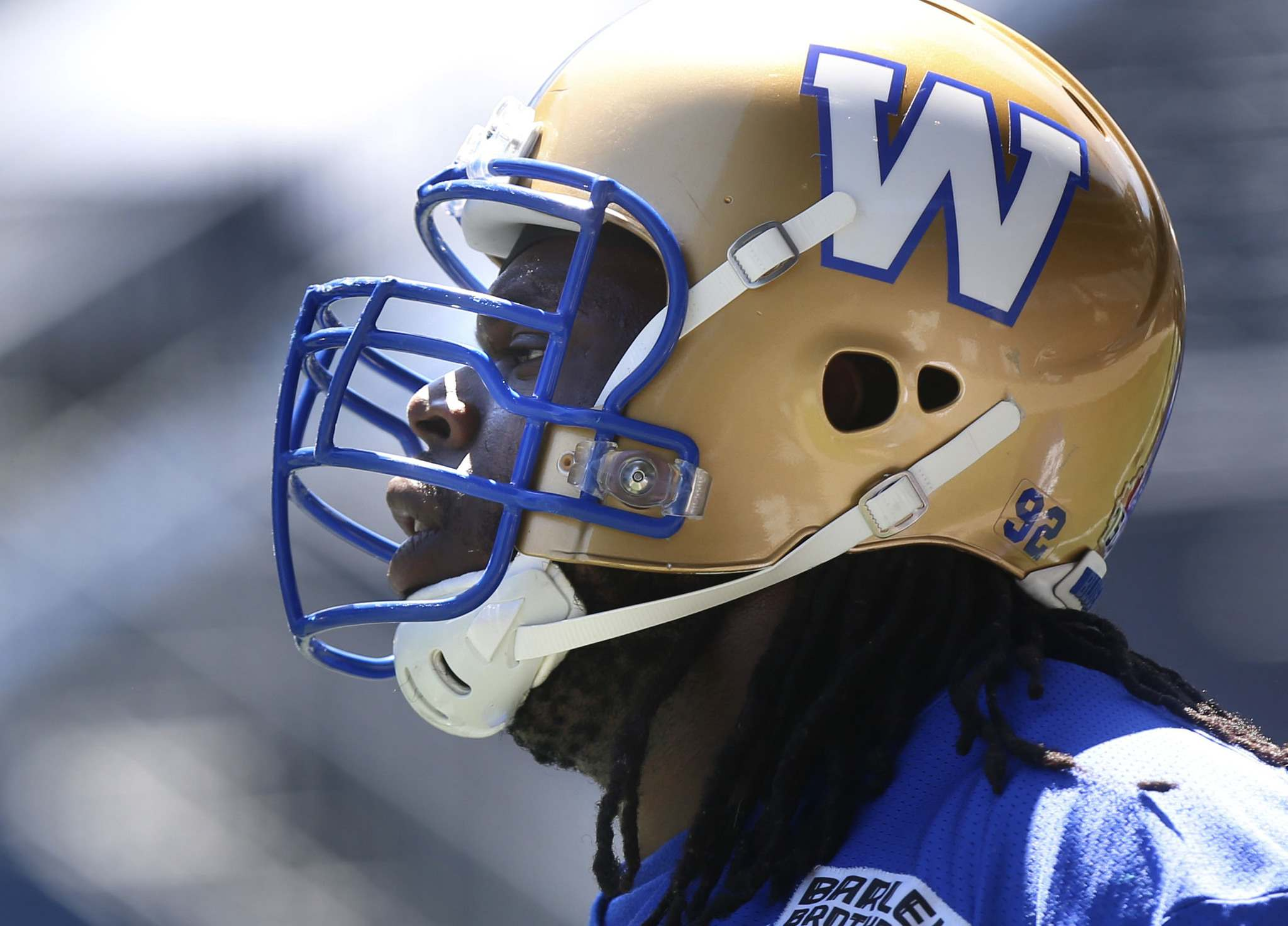 Drake Nevis had a good season and is deserving of a raise, so the Bombers might not be able to keep him. (Wayne Glowacki / Winnipeg Free Press files)