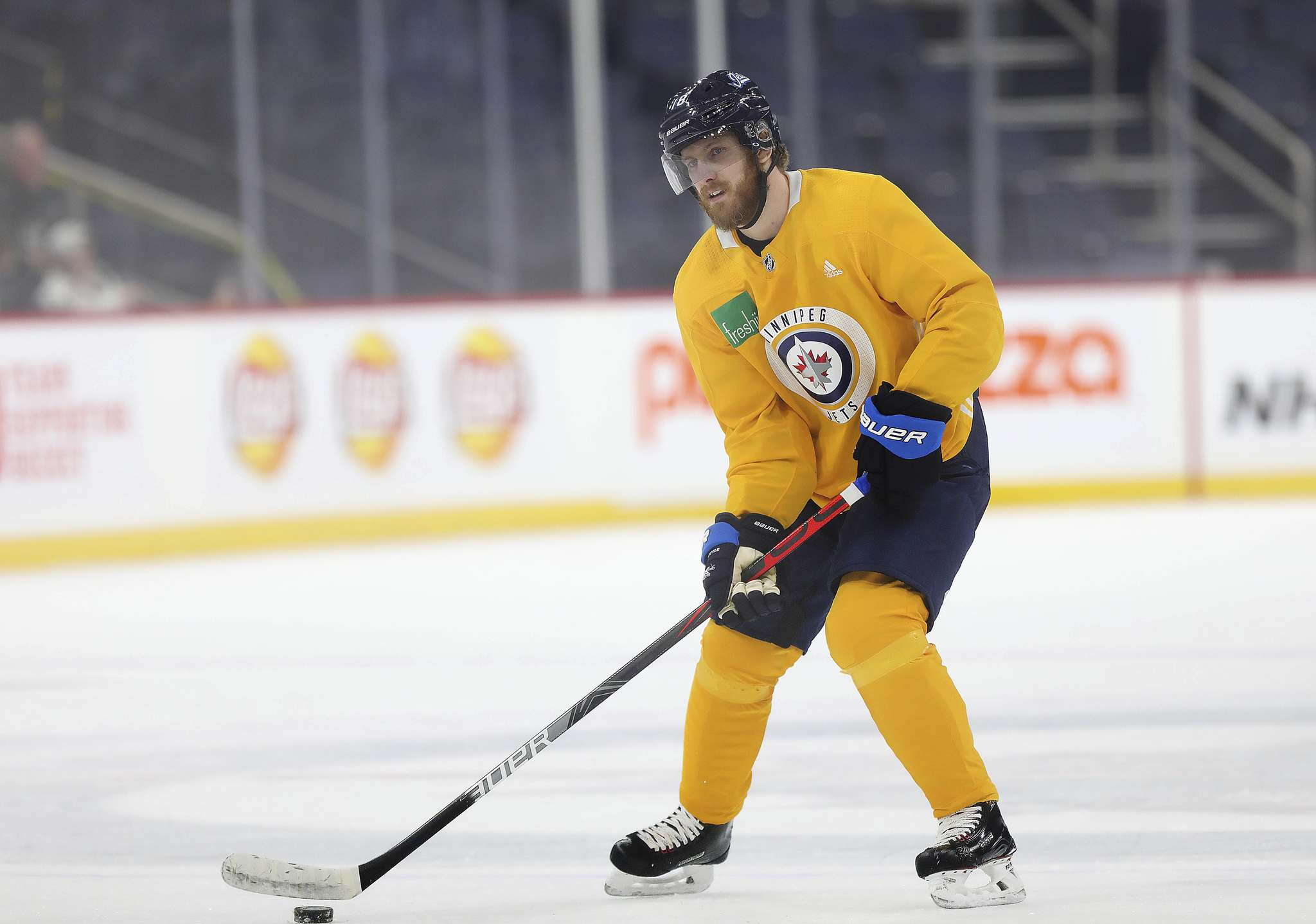 Bryan Little has been skating this week, but there is no timeline for his return to the lineup. (Ruth Bonneville / Winnipeg Free Press)</p>