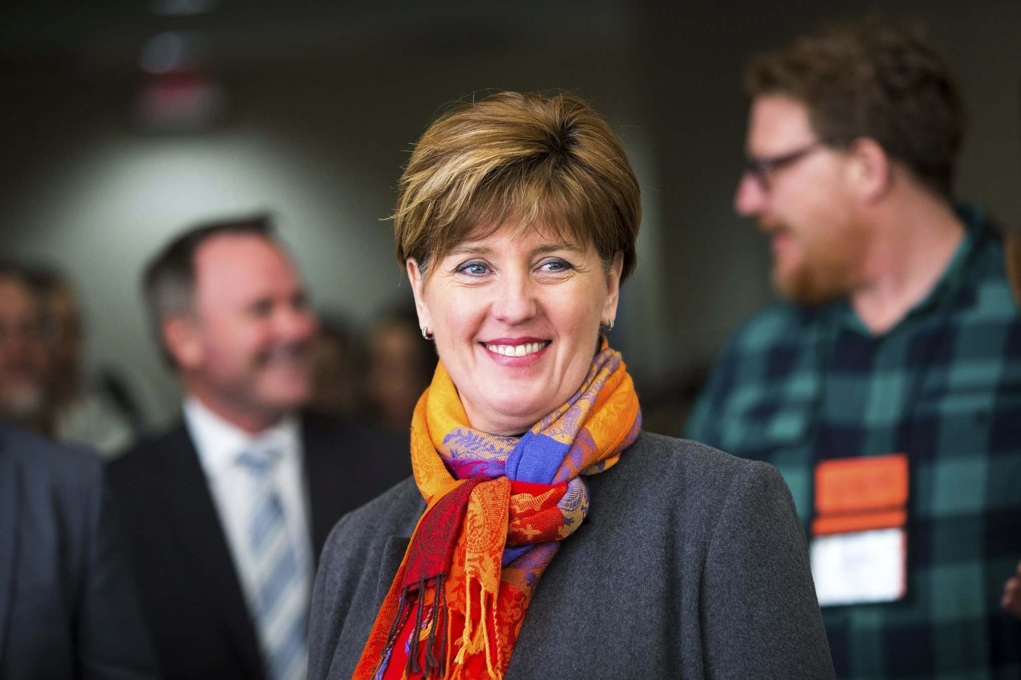 MIKAELA MACKENZIE / WINNIPEG FREE PRESS</p><p>Federal Agriculture Minister Marie-Claude Bibeau announces a grant of about $500,000 to look into the creation of insurance to protect hog farmers in case of disease outbreaks.</p>